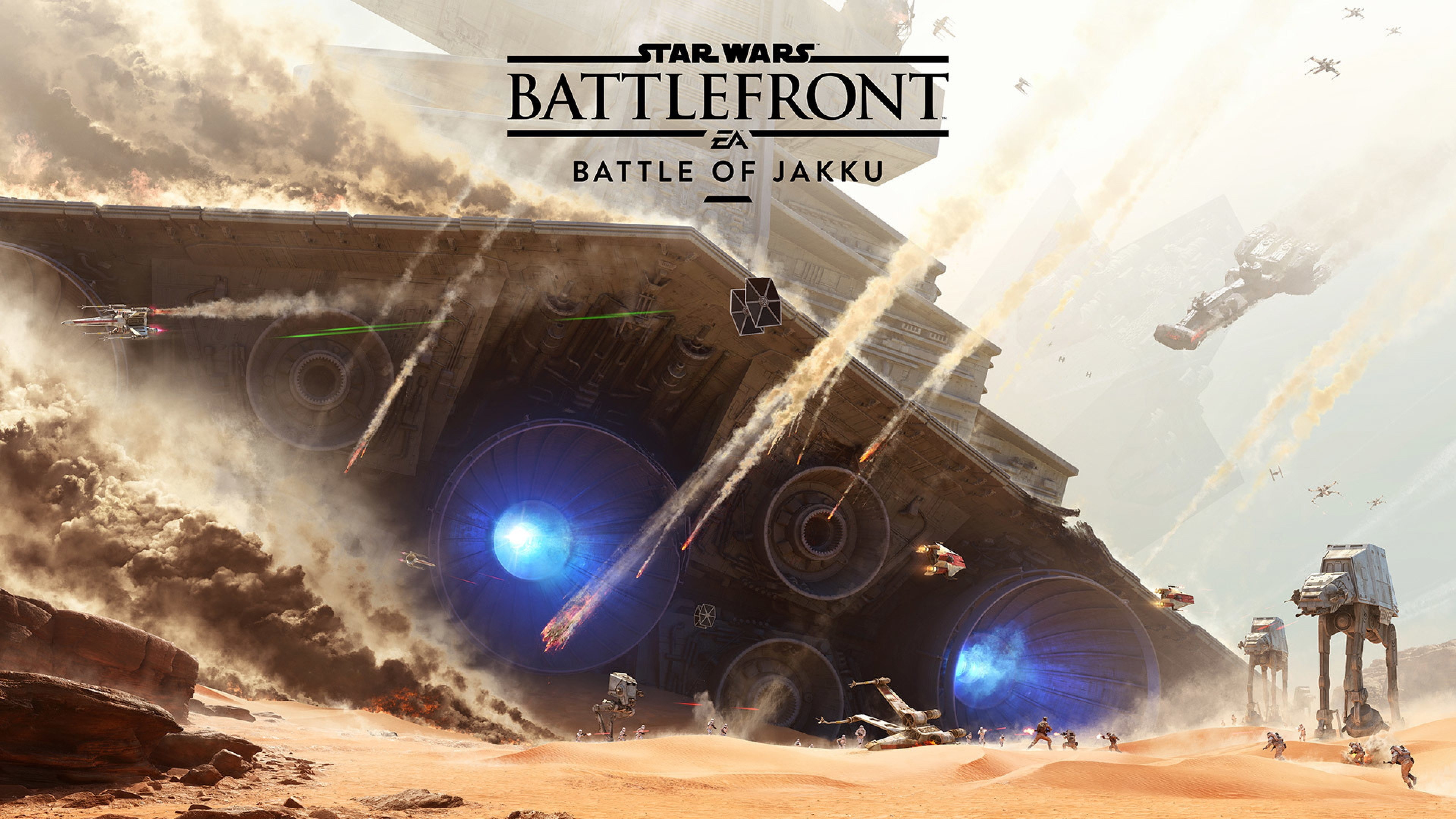 Preview wallpaper star wars, battlefront, battle of jakku 3840×2160