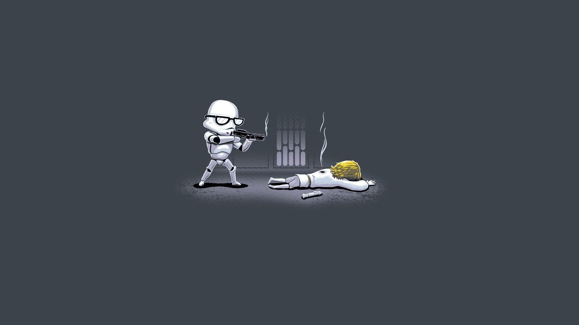 Star Wars Minimalistic Guns Stormtroopers Lightsabers Glasses Luke  Skywalker Ownage Pictures Free