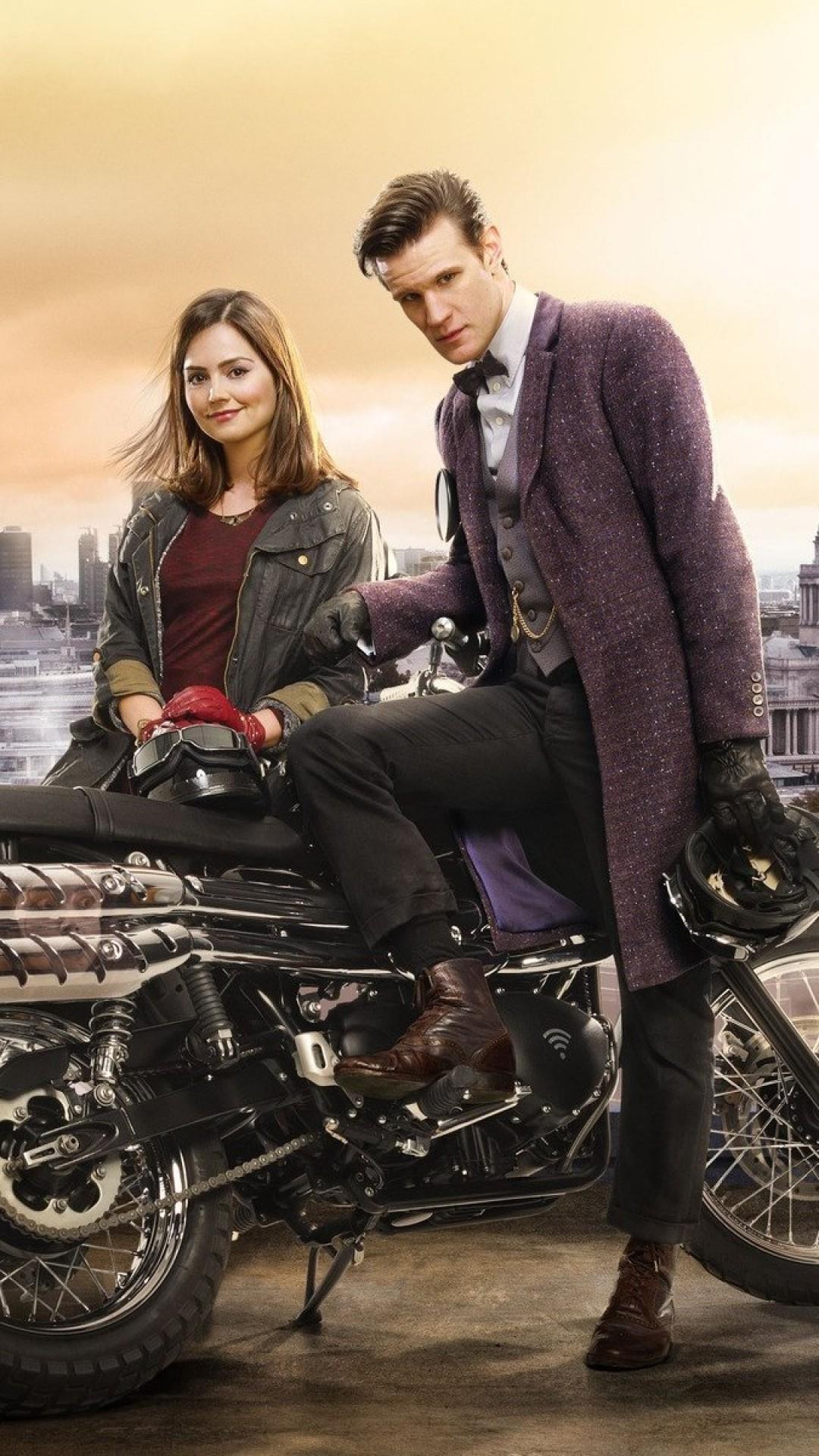 Wallpaper doctor who, matt smith, jenna-louise coleman,  motorcycle, london