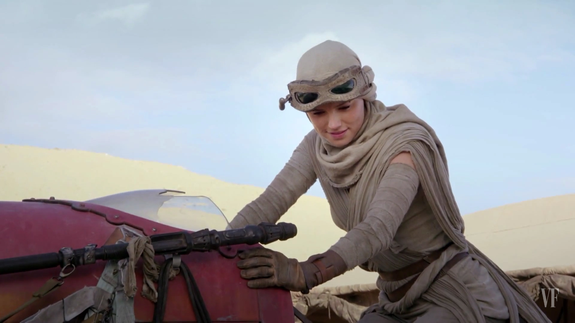 Rey riding her Speeder – Star Wars 7: The Force Awakens wallpaper