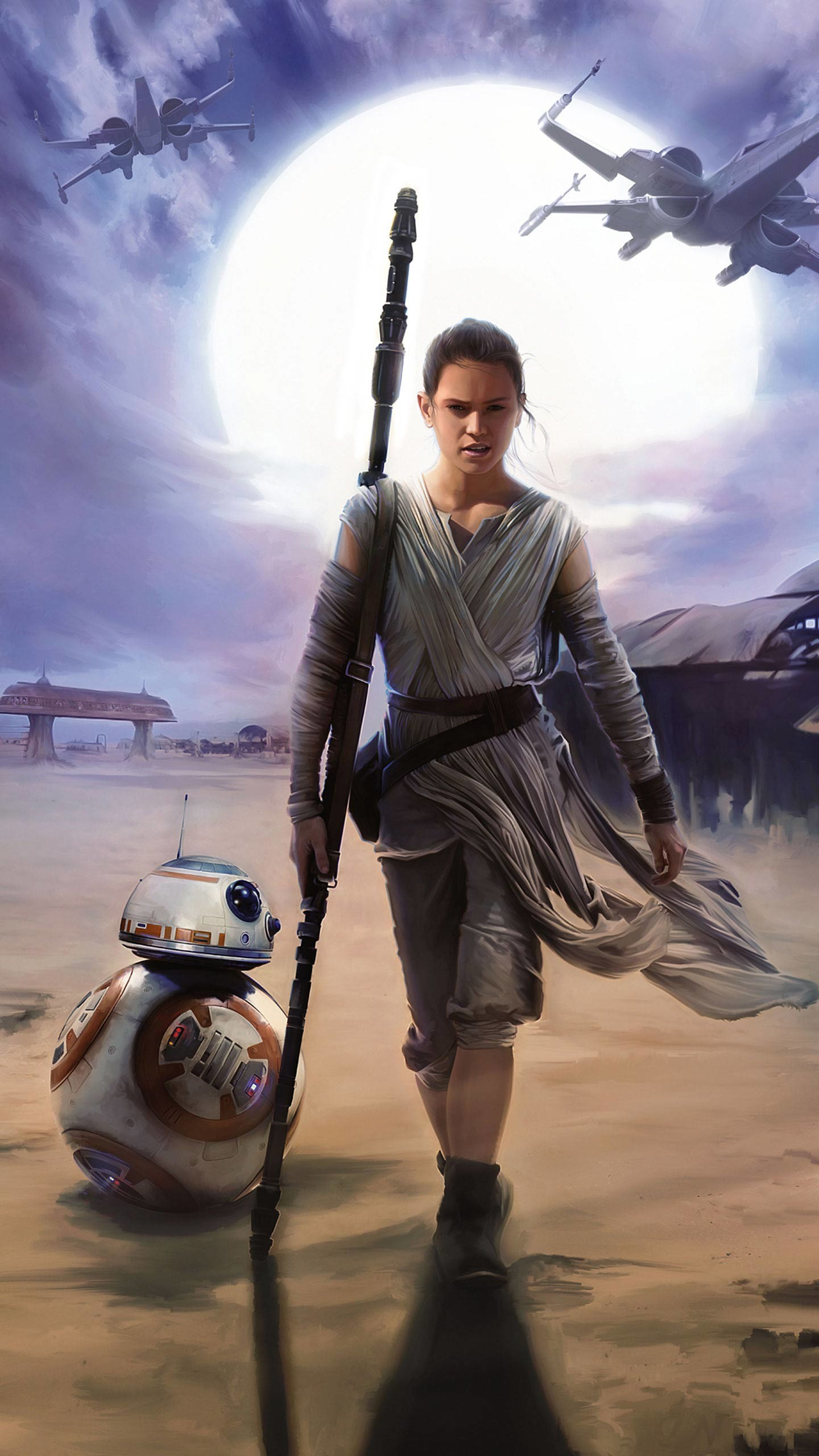 … the same number of pixels across their faces, you'll find that these Star  Wars: The Force Awakens wallpapers are just right for the whole collection.