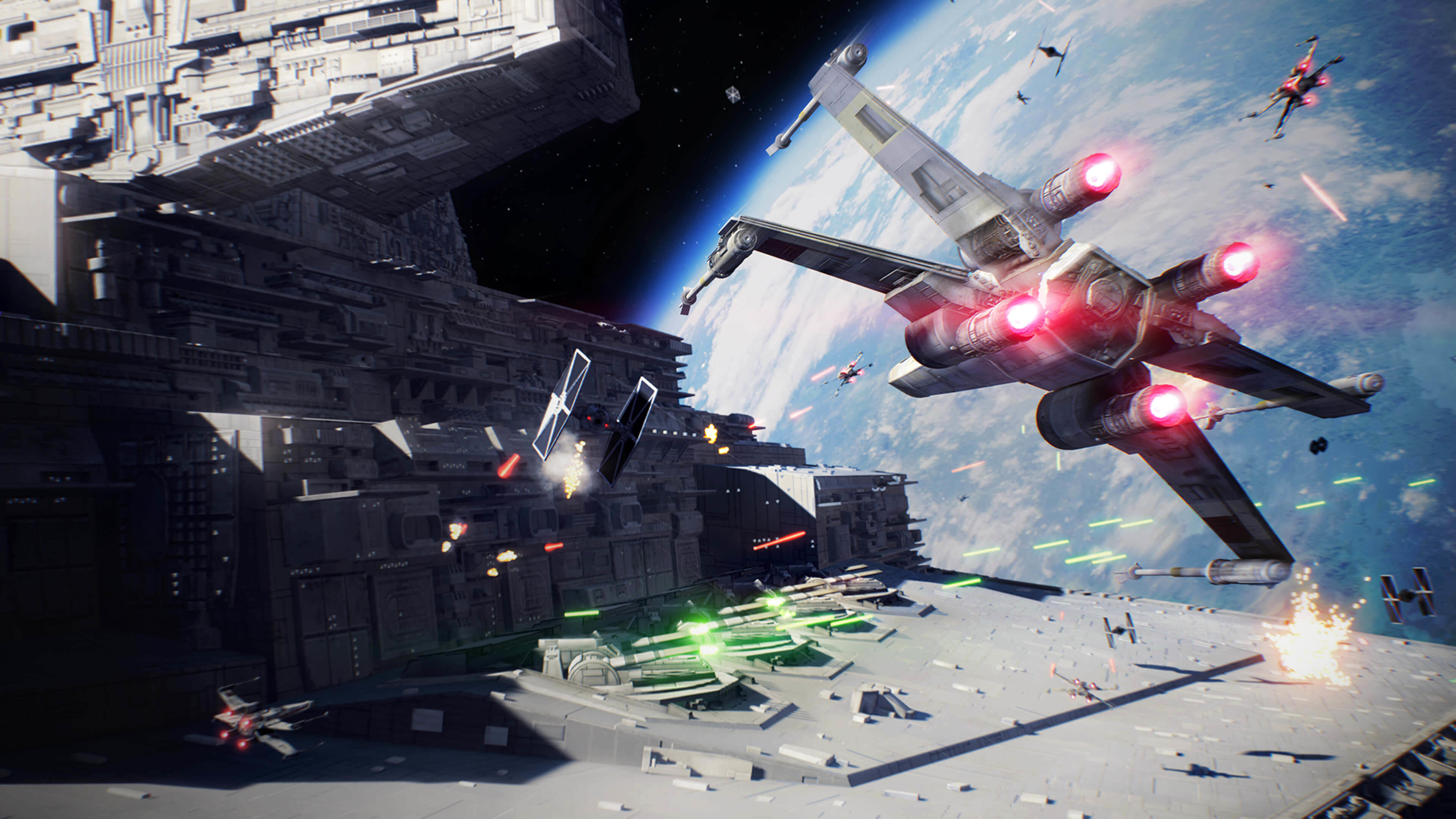 Star Wars: Battlefront II Space Battle wallpaper