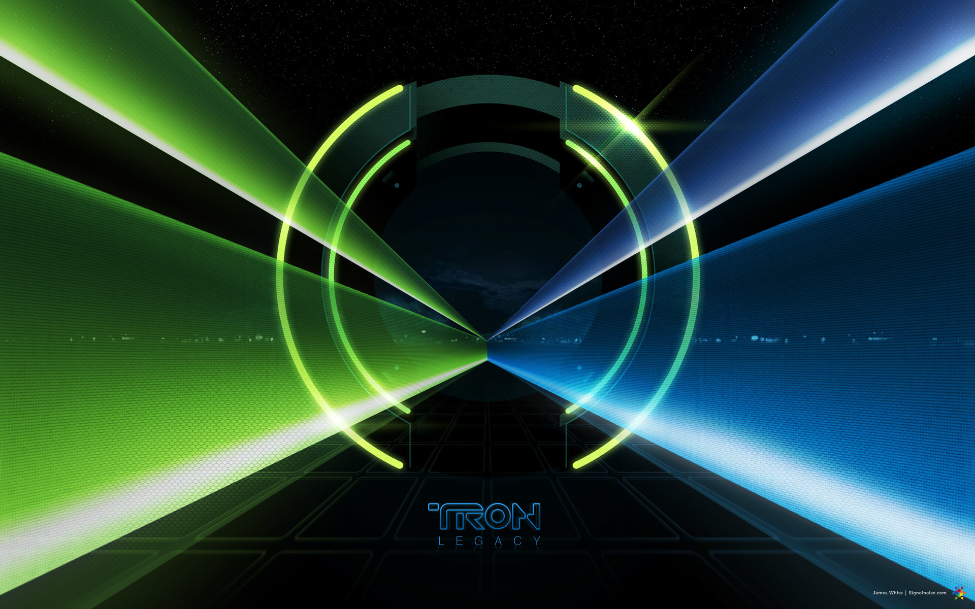 light tunnel from Disney's Tron Legacy movie wallpaper