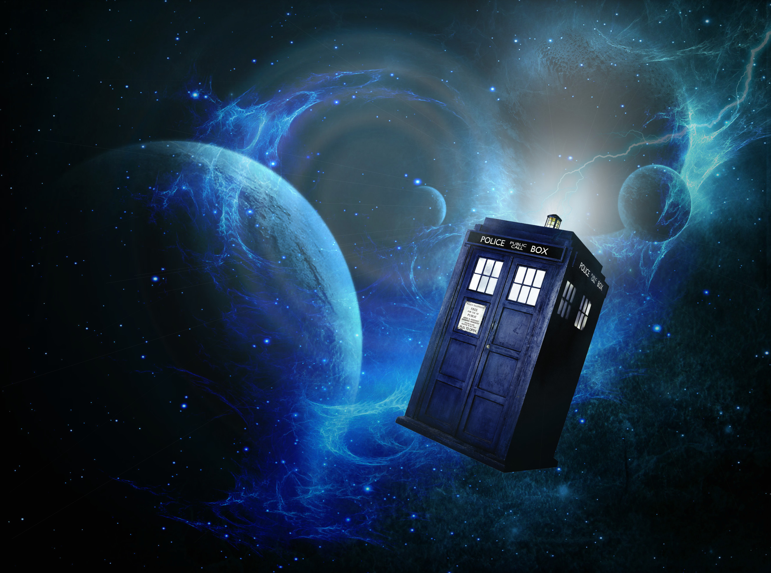 Doctor Who Wallpaper Tardis In Space (1)