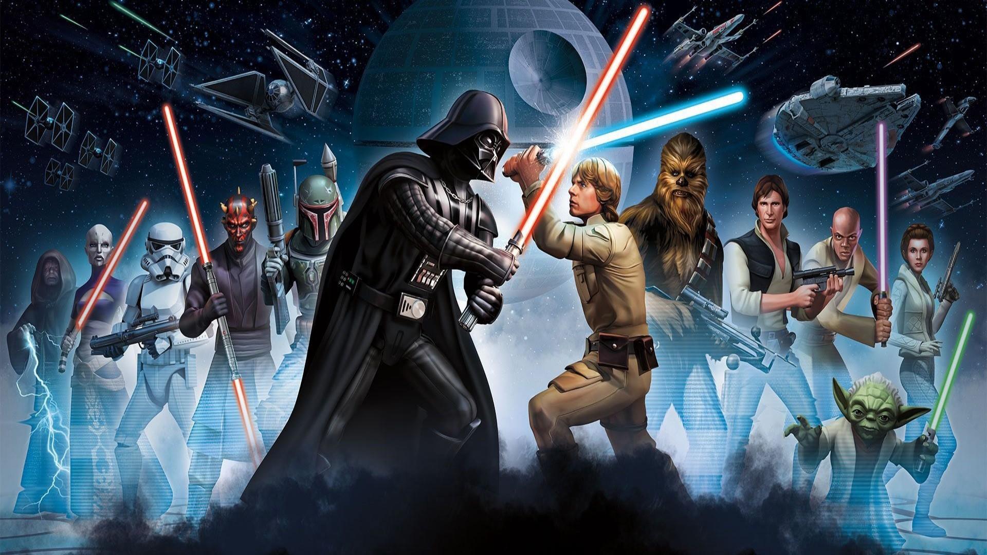 Movie – Star Wars Darth Vader Boba Fett Darth Maul Chewbacca Han Solo  Princess Leia Yoda