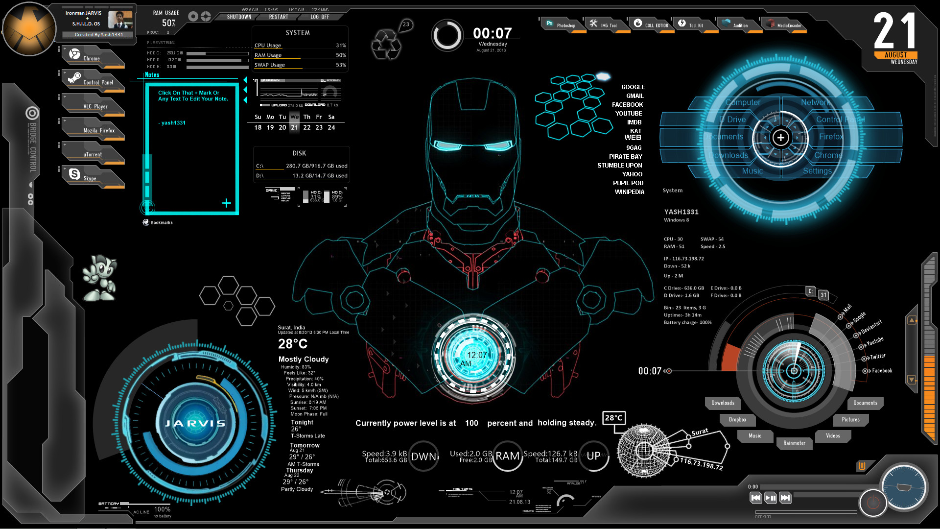 69 Iron Man Jarvis Animated