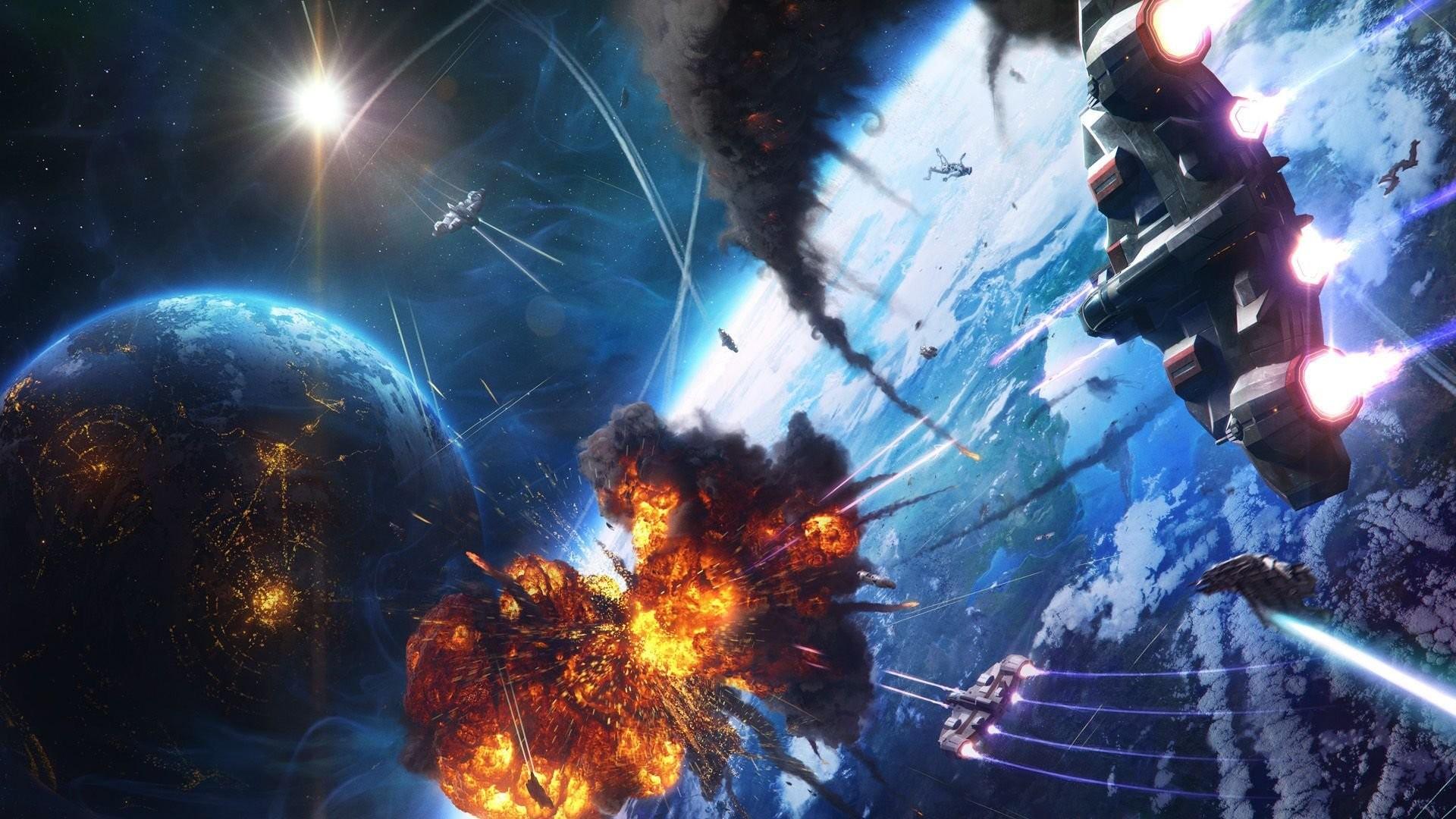 Space Battle Wallpaper