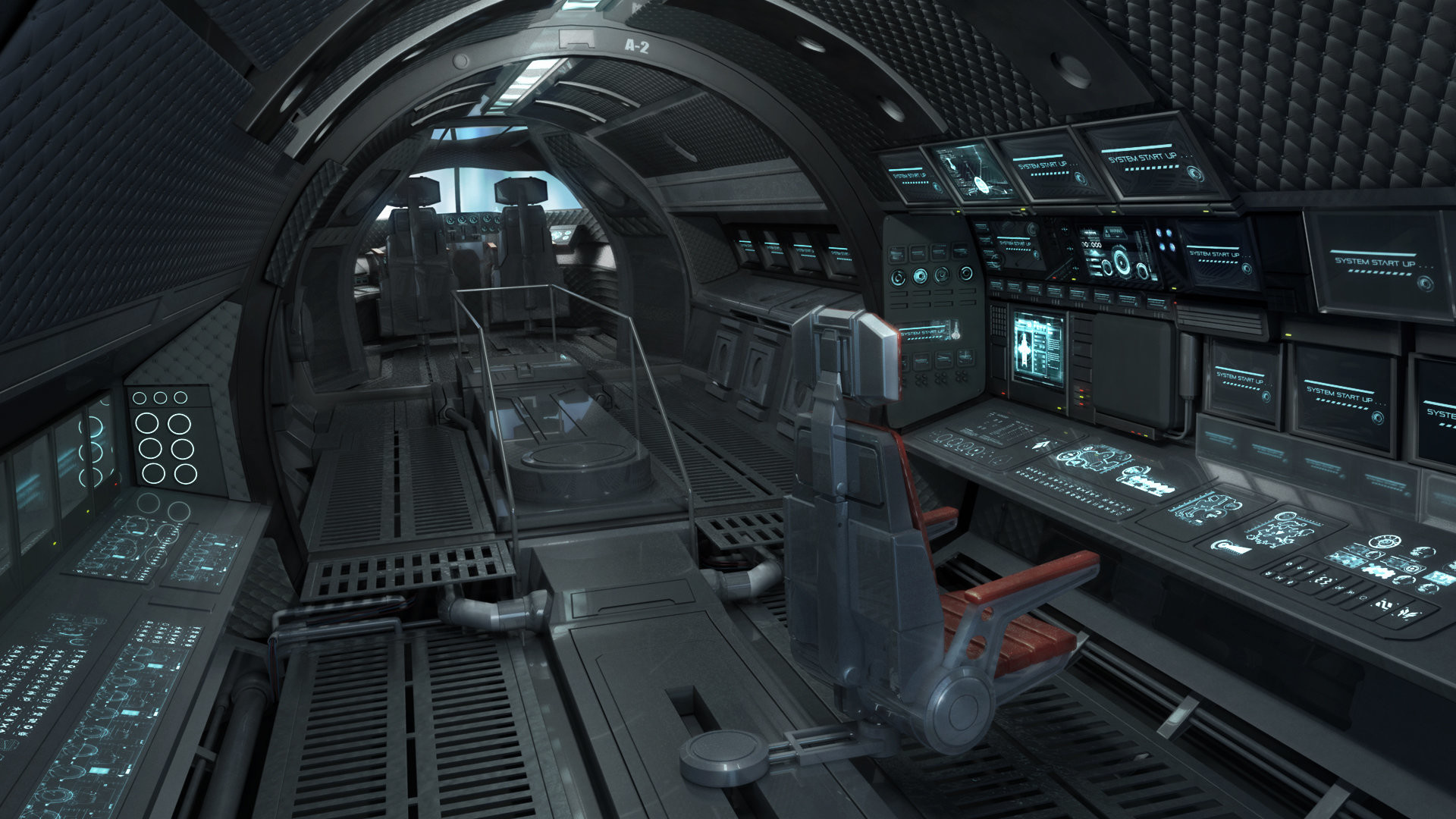 Here's a Spaceship cockpit interior i did a few terms back at Gnomon School  of Visual