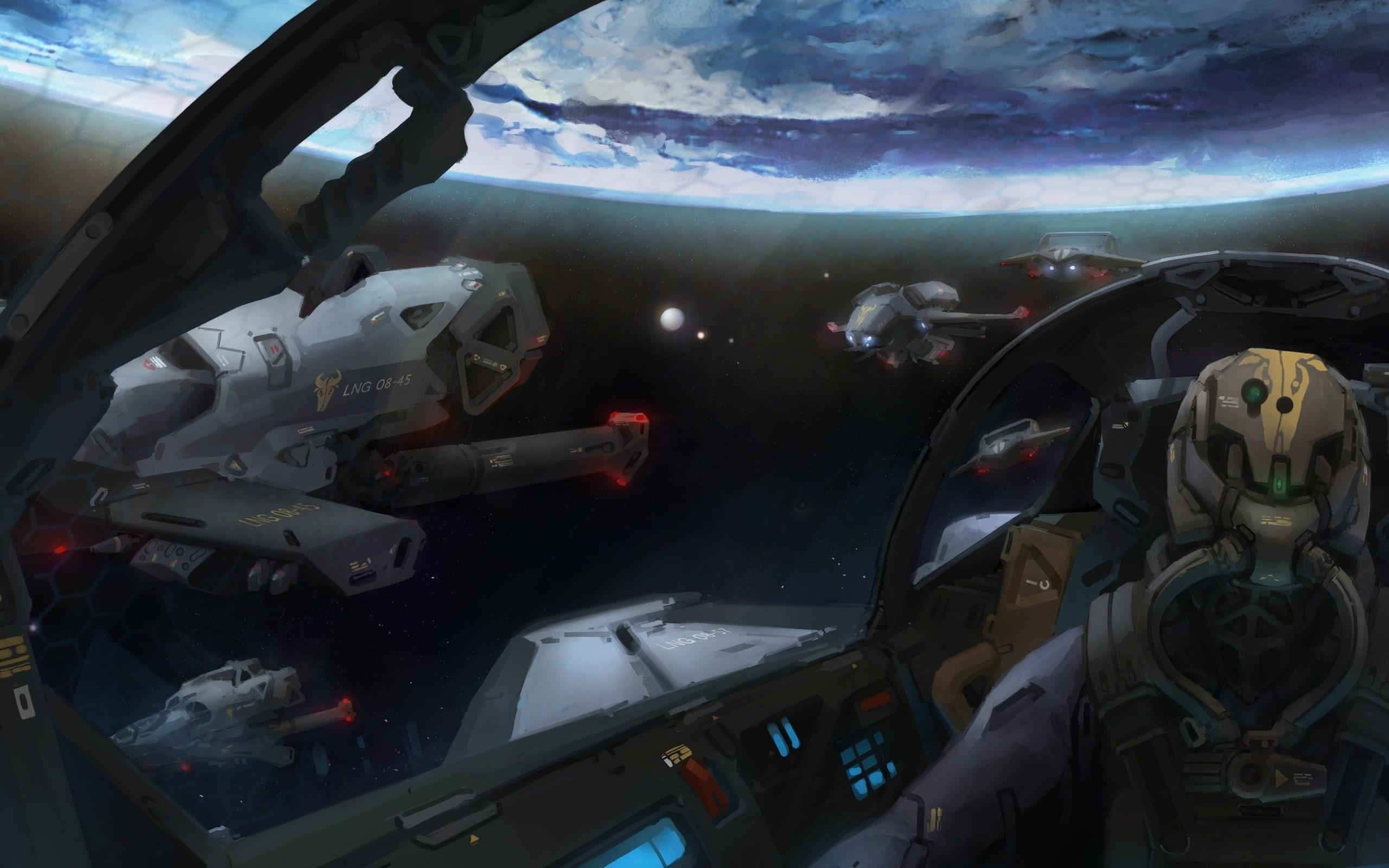 spaceship Wallpaper Background