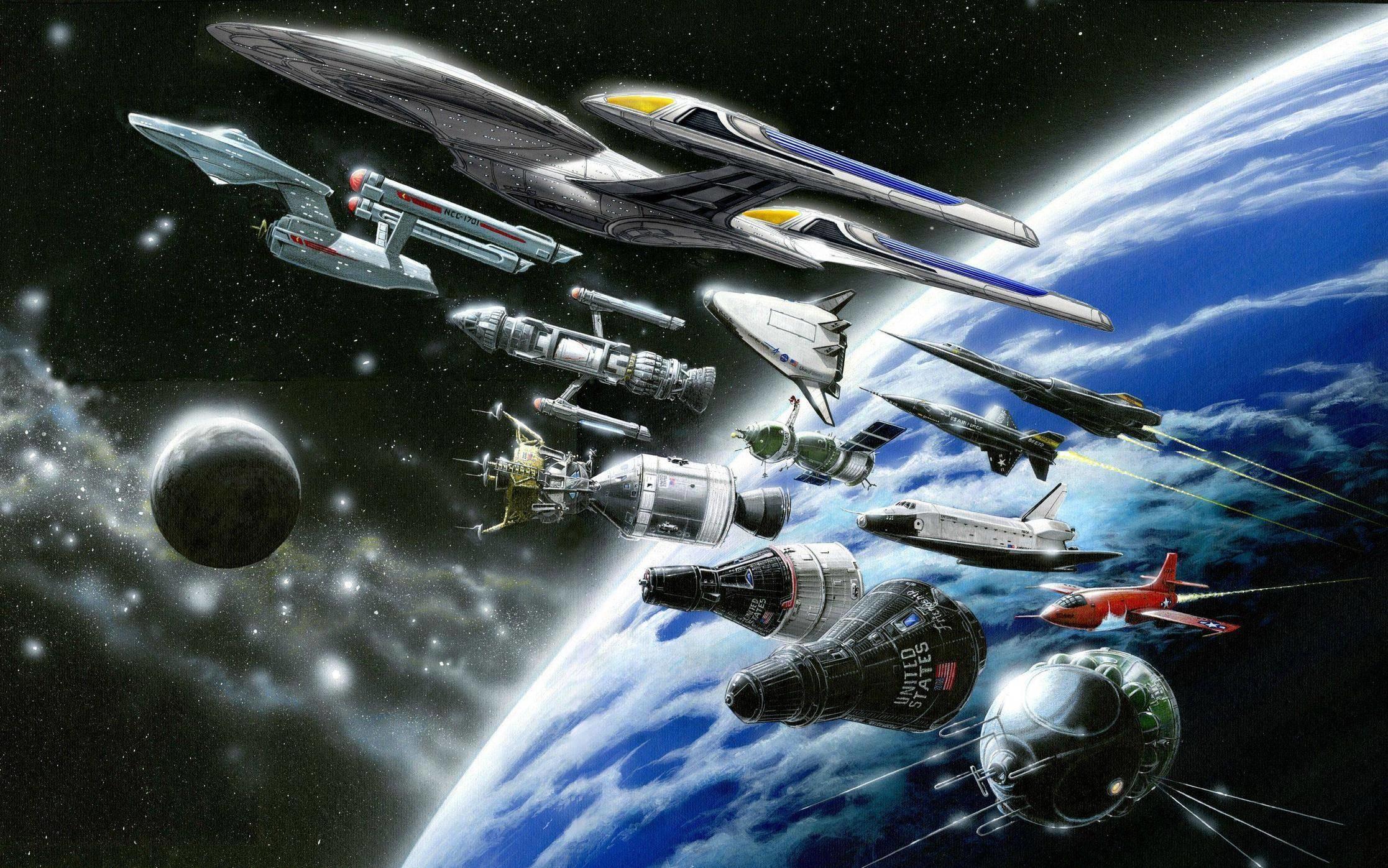 Star Trek Starship Enterprise Spaceship NASA Shuttle Drawing Stars .