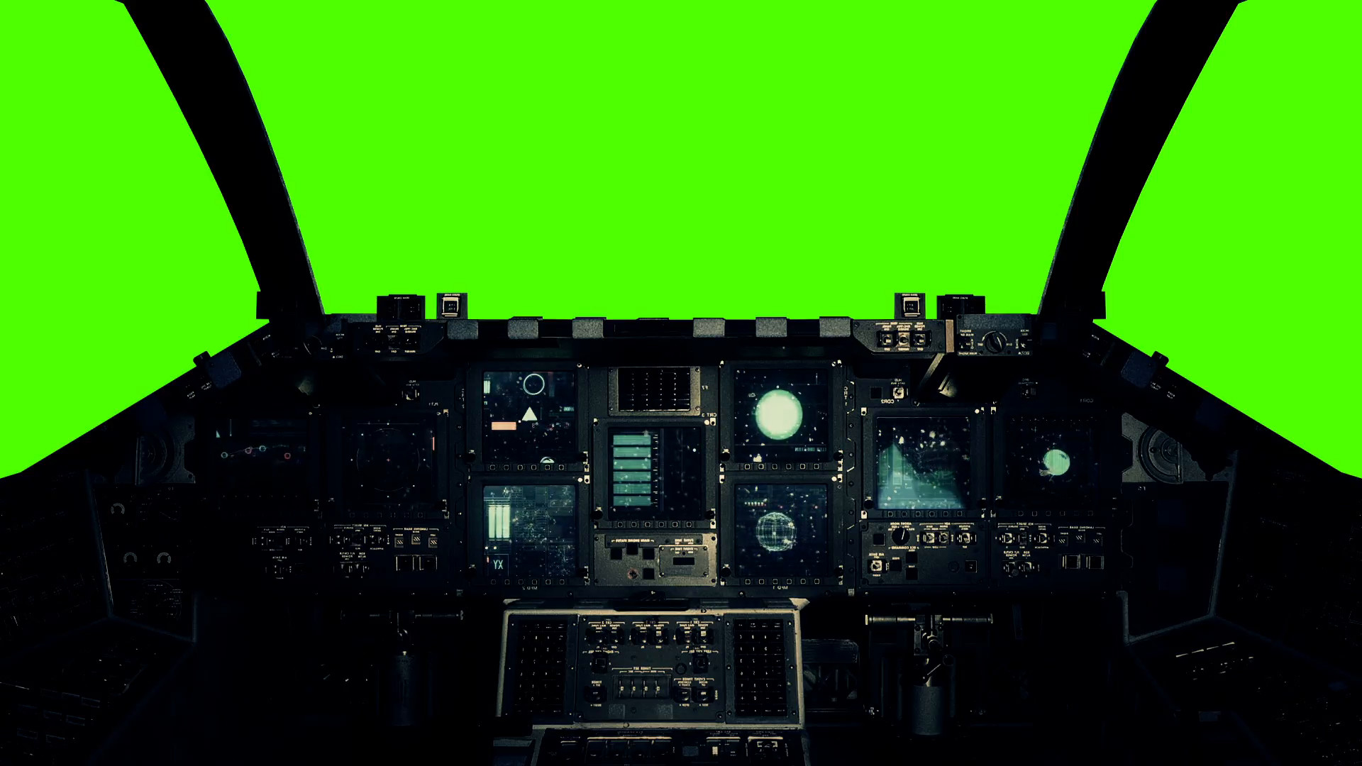 Spaceship Cockpit in a Pilot Point of view on a Green Screen Background  Stock Video Footage – VideoBlocks