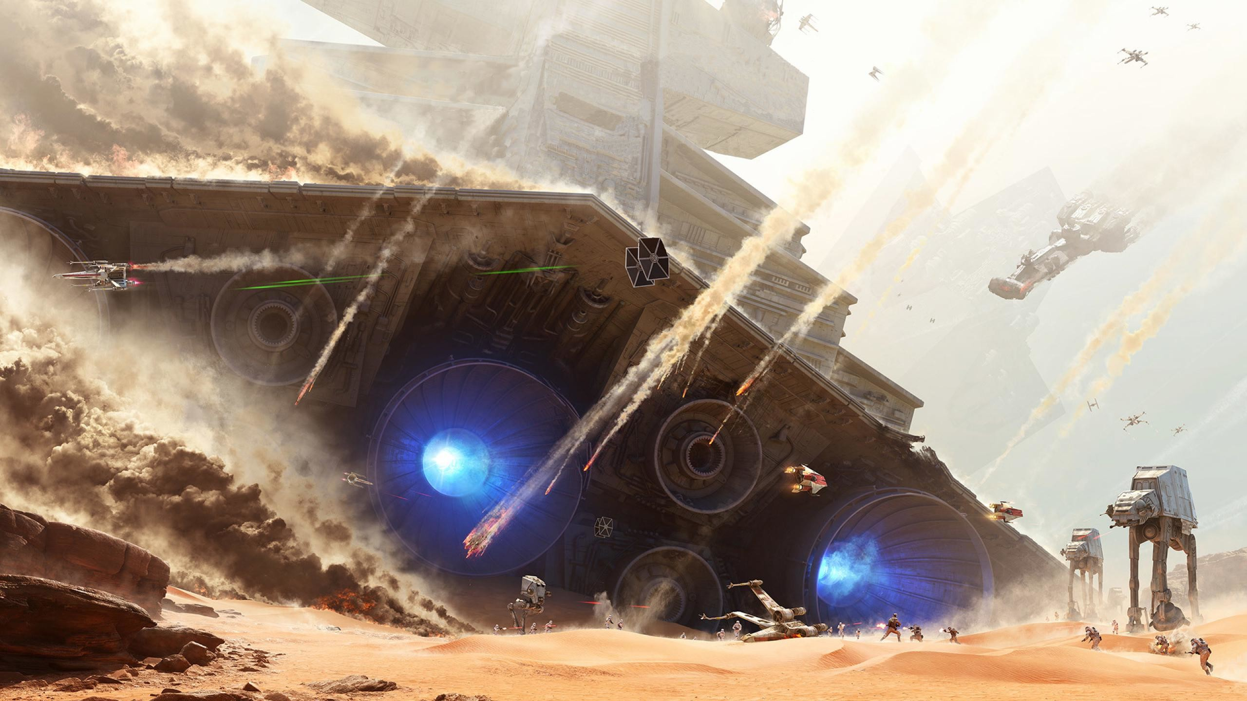 GamesI removed all the text from the Battlefront Jakku concept art, makes a  good wallpaper …