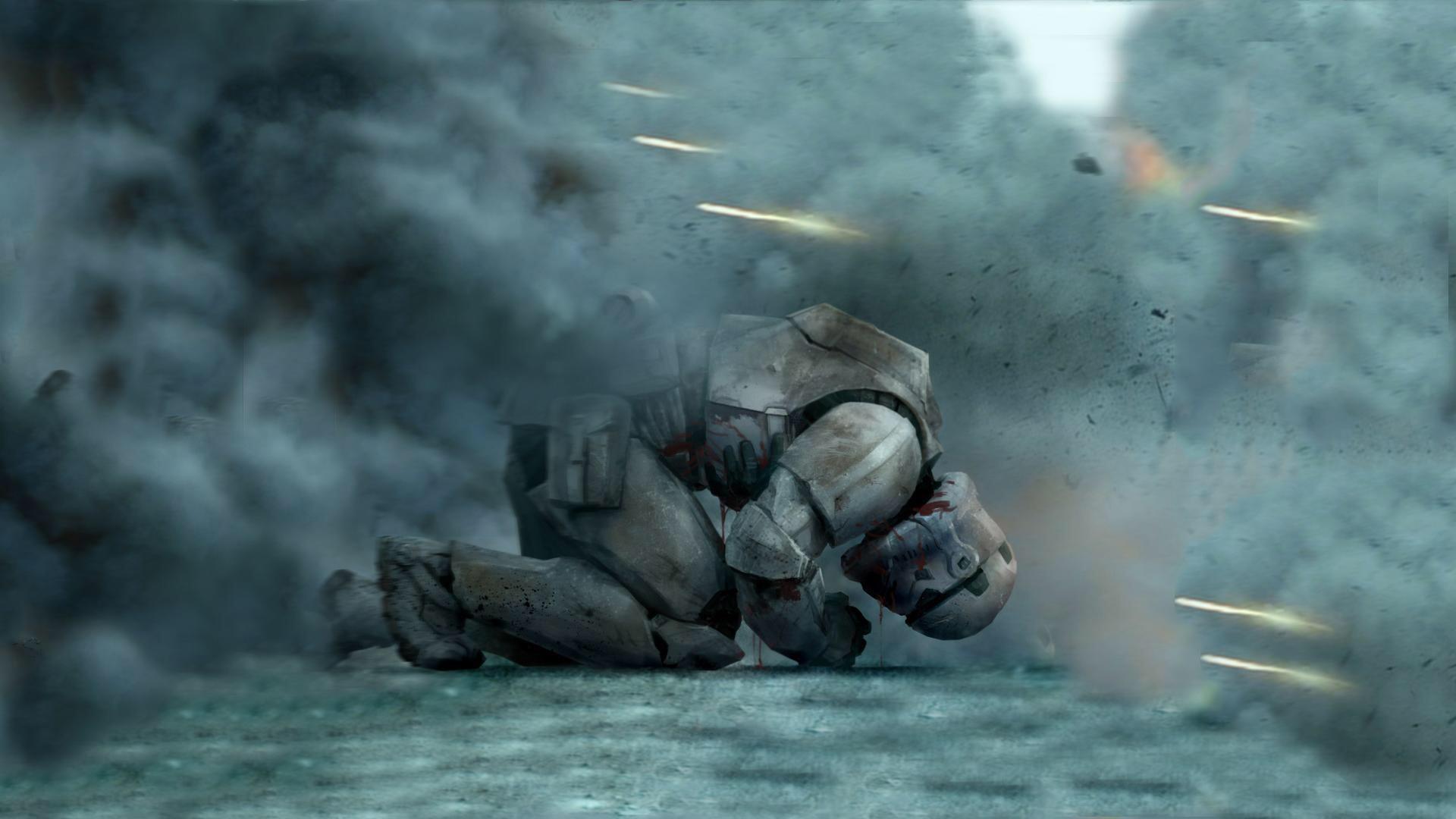 #Star Wars. Fallen Stormtrooper wallpaper