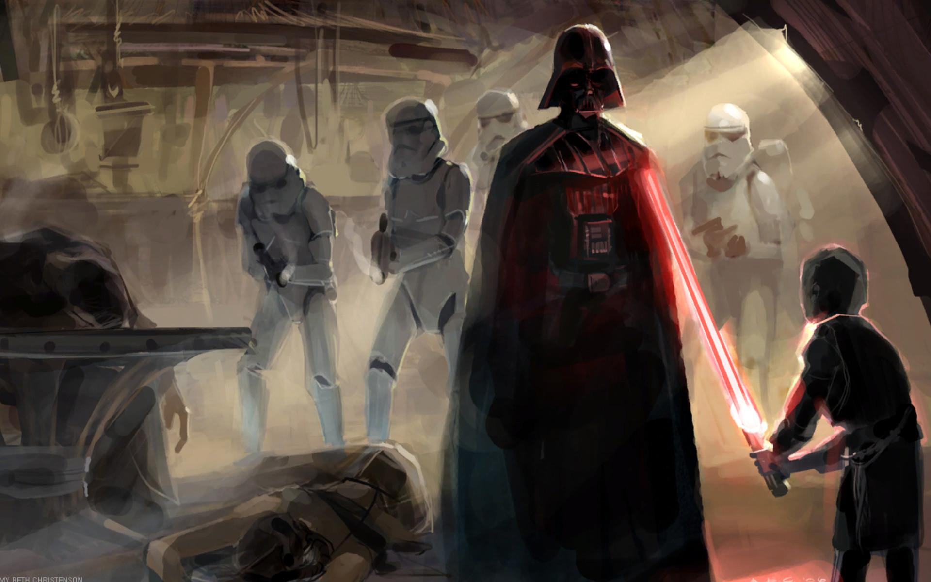Artwork Concept Art Dark Side Darth Vader Lightsabers Sith Star Wars