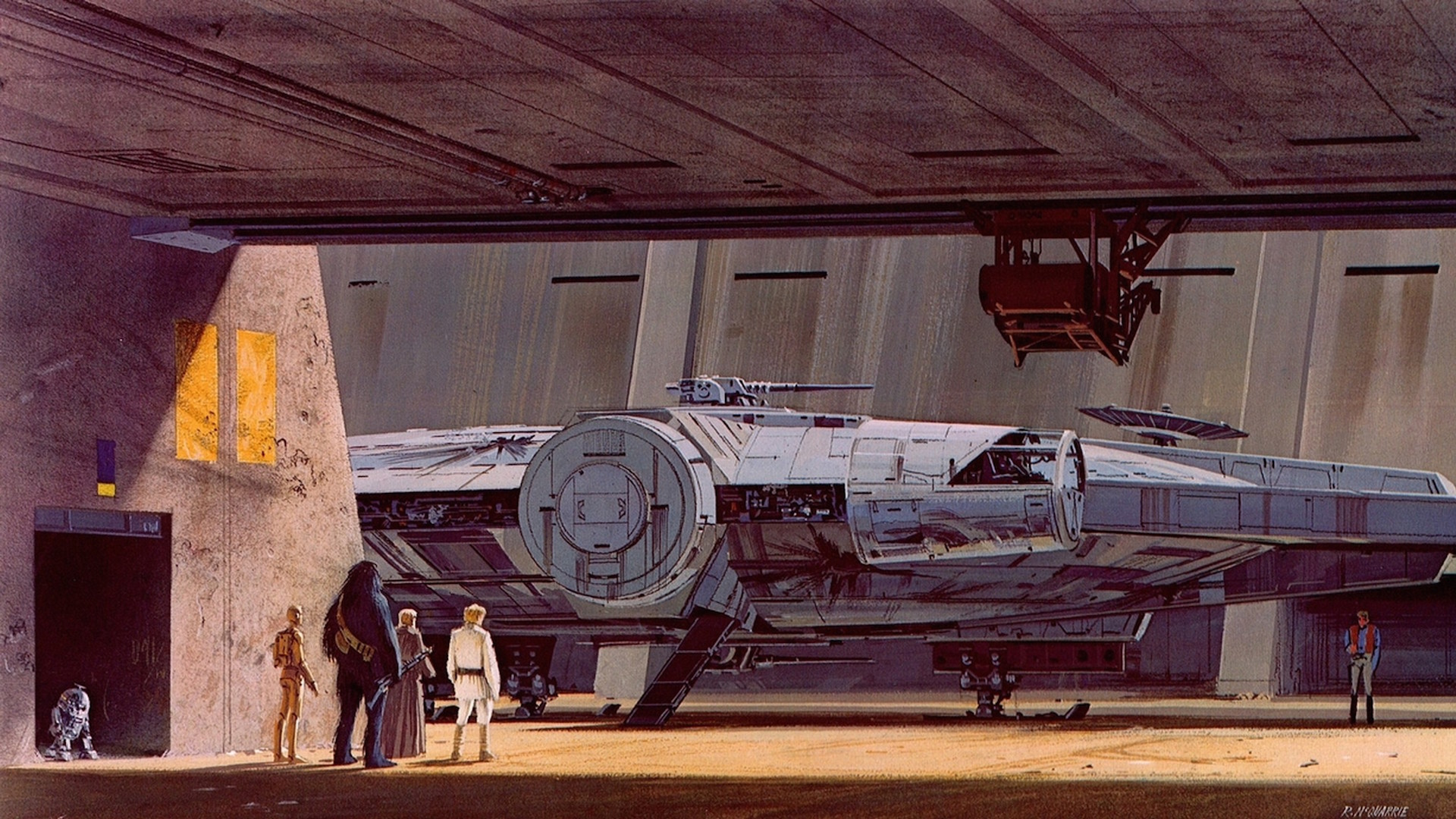 Some of my favourite Ralph McQuarrie Star Wars concept art wallpapers