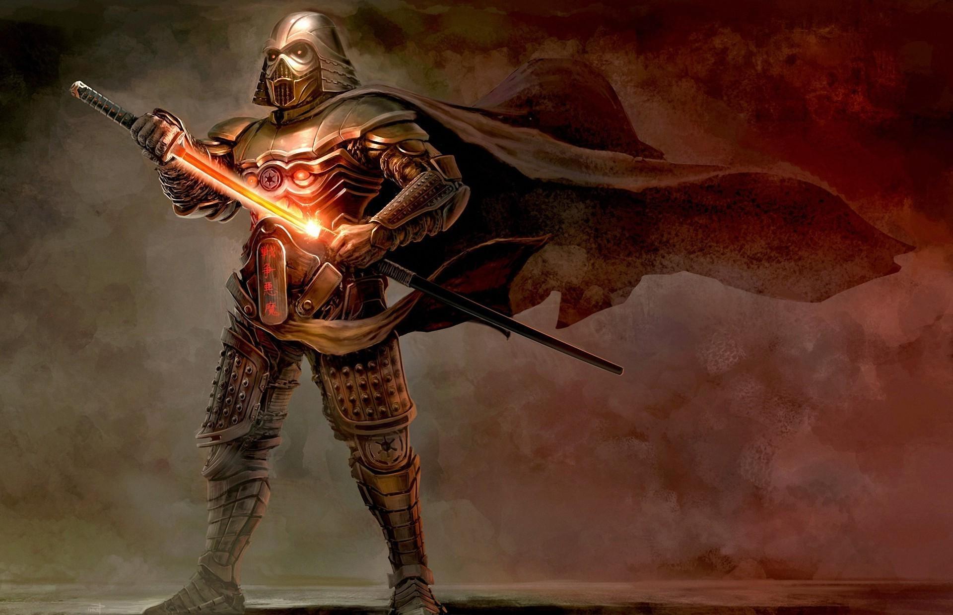 Darth Vader, Samurai, Artwork, Fantasy Art, Concept Art, Sword, Katana, Star  Wars Wallpapers HD / Desktop and Mobile Backgrounds
