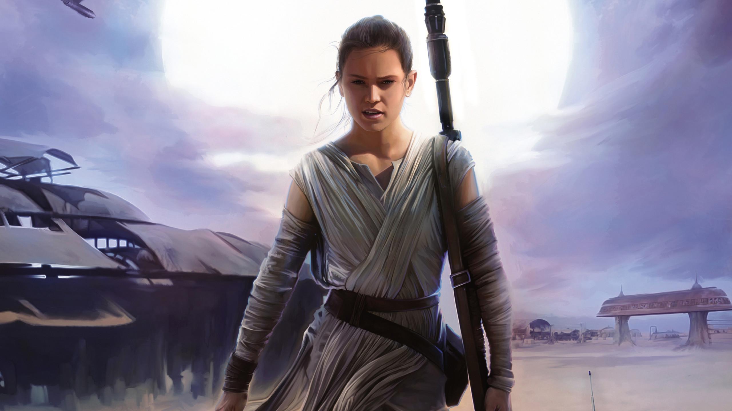 Rey Artwork – Star Wars 7: The Force Awakens wallpaper