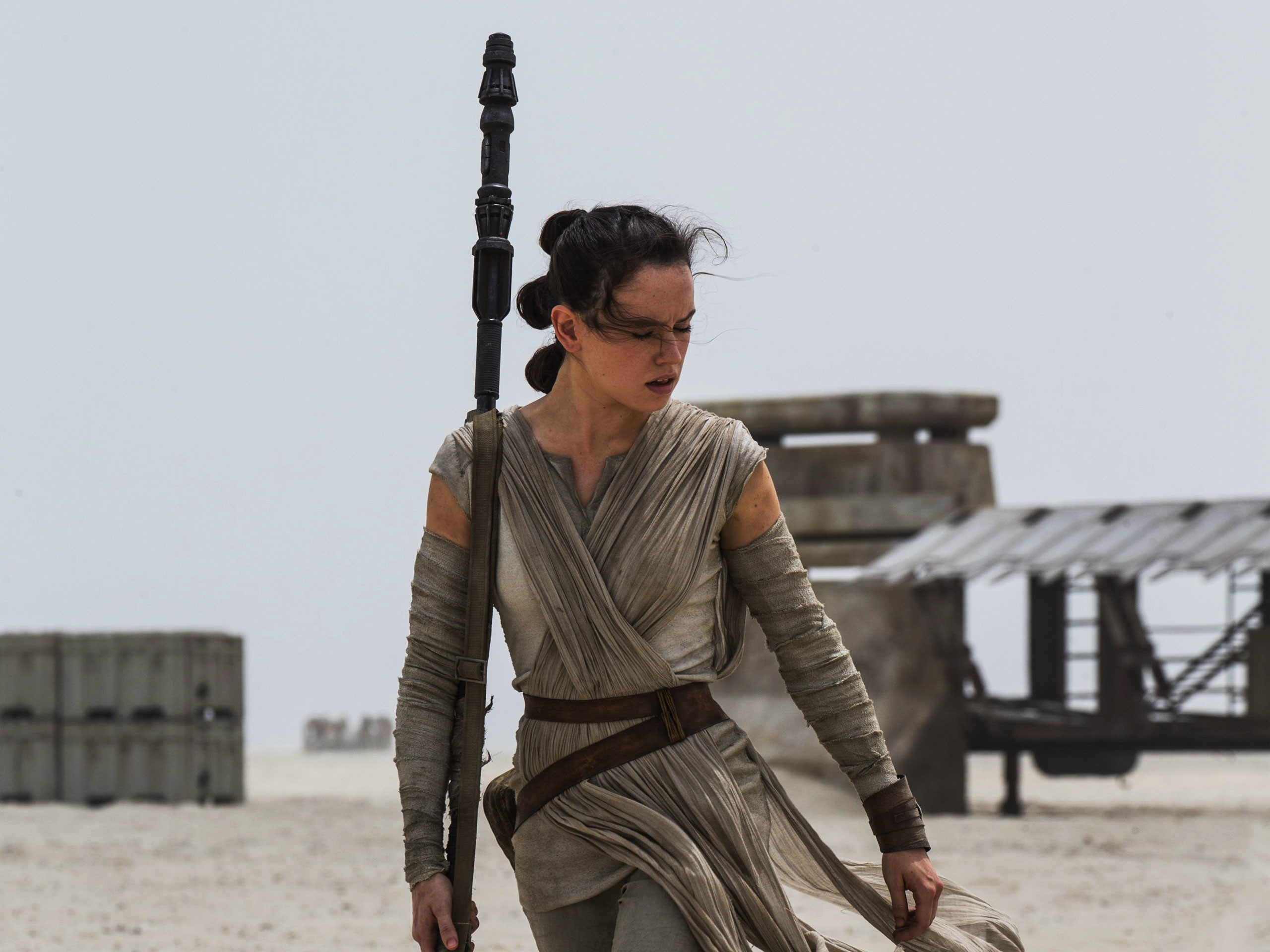 Rey from Star Wars 7: The Force Awakens wallpaper