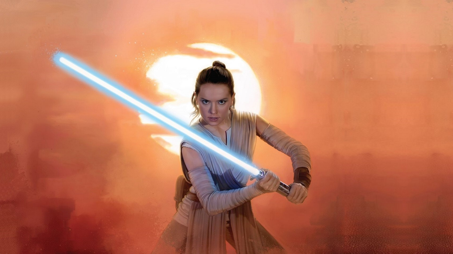 People Star Wars lightsaber Jedi Daisy Ridley Rey (from Star Wars)