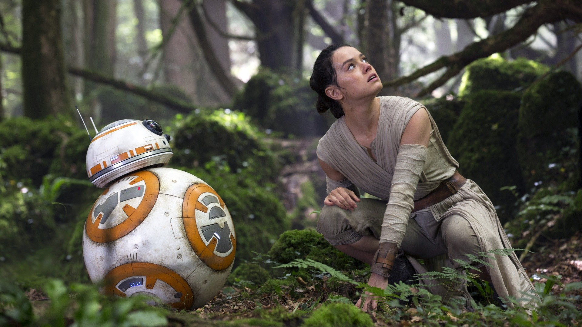 Star Wars The Force Awakens R2 D2 Rey Wallpapers