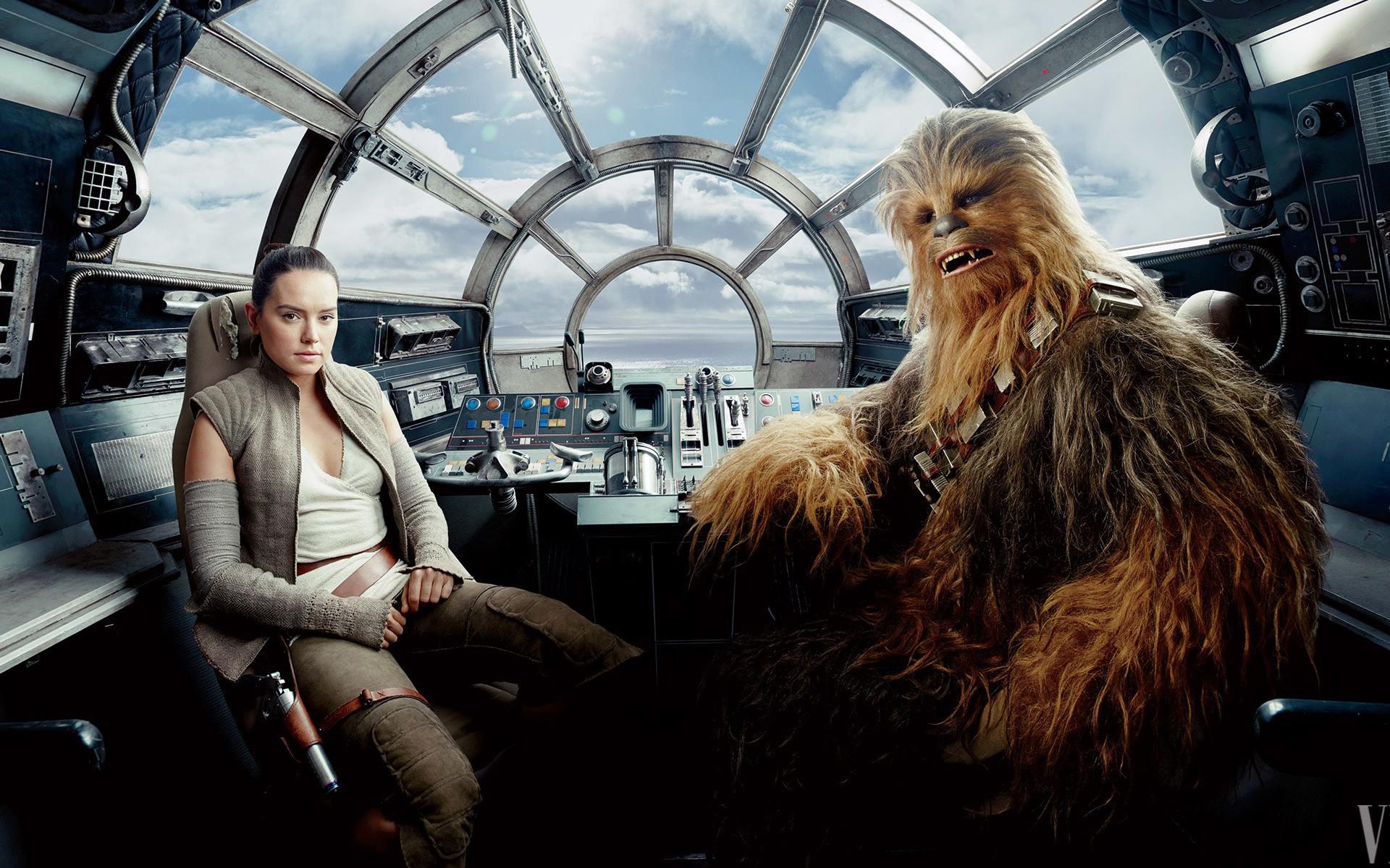 Rey Chewbacca Star Wars The Last Jedi