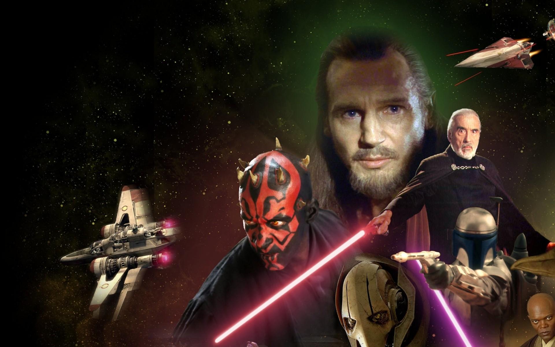star wars lightsabers darth vader sith chewbacca jabba the hutt quigon jinn 5760×1080  wallpaper Art HD