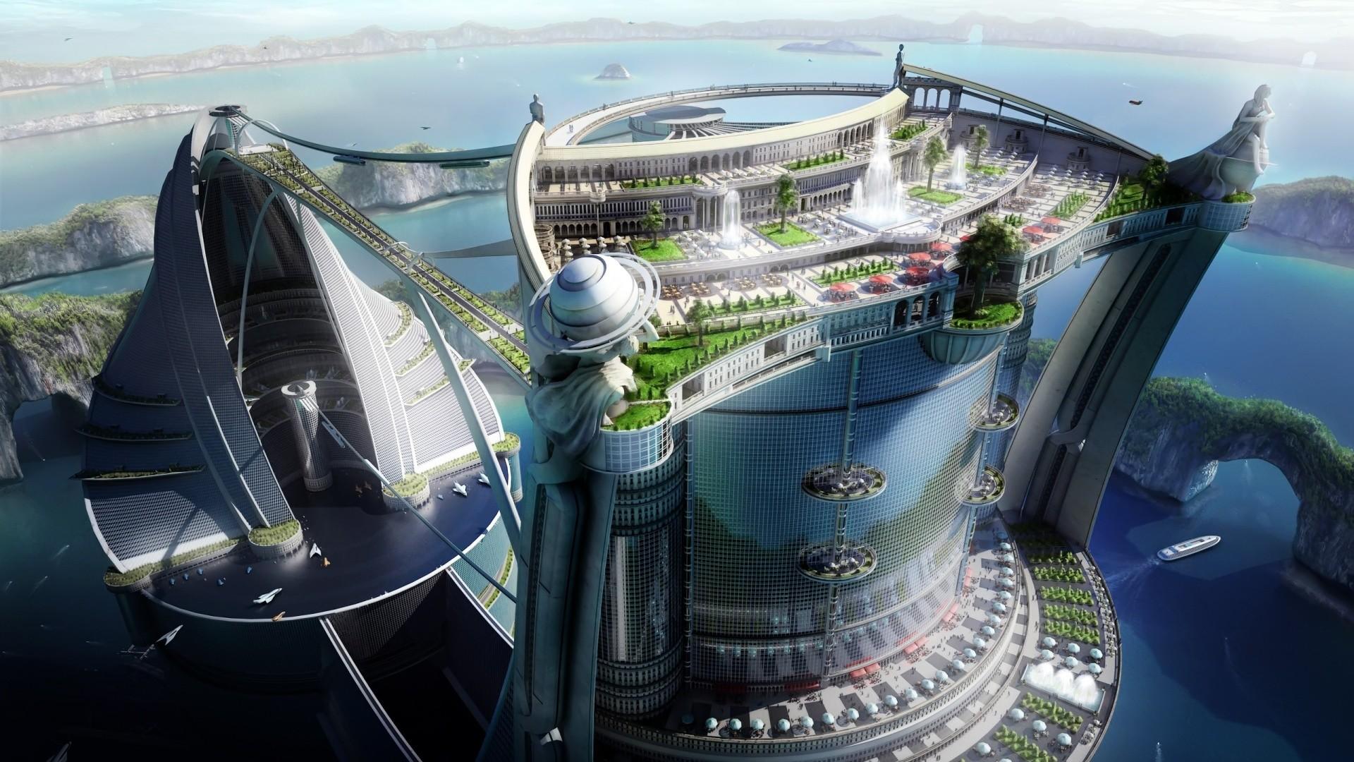 Futuristic City Wallpaper 42