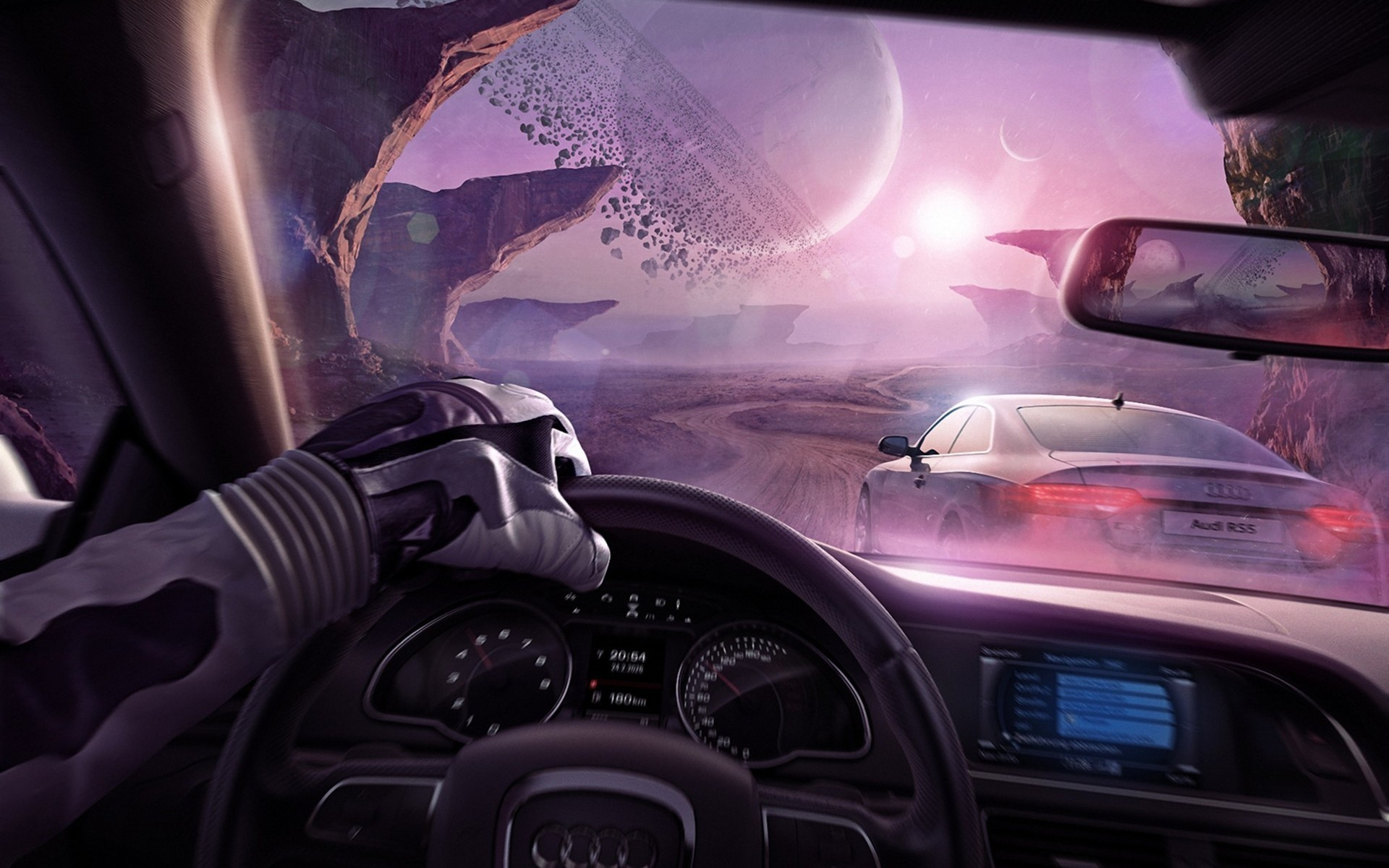 Driving into the Future wallpaper