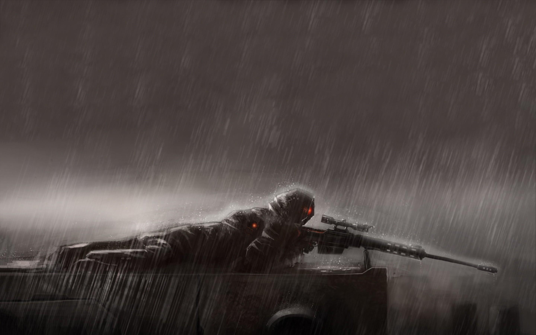 Cliff Sniper Wallpaper