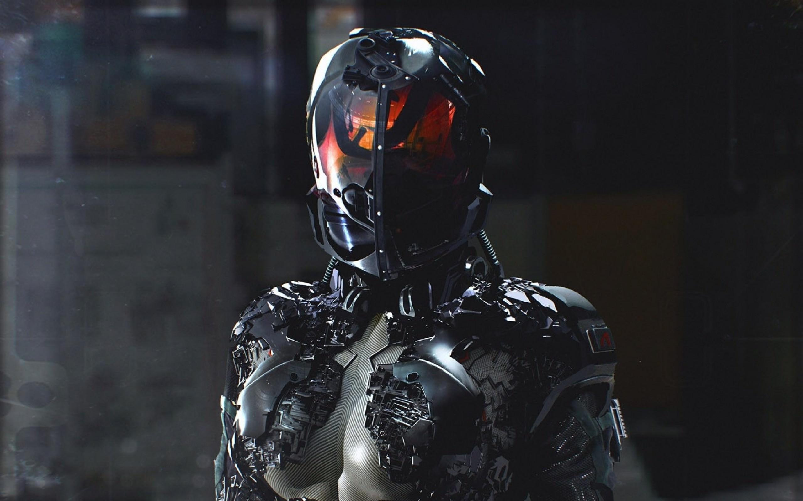 Armoured Suit Sci-fi Wallpaper