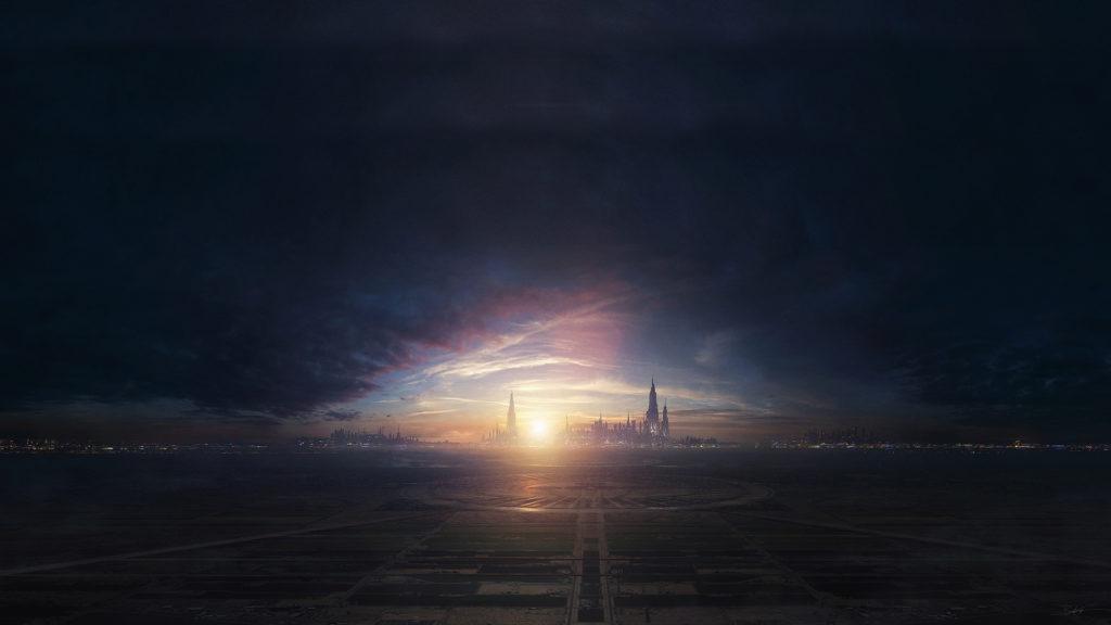 Full HD Sci-fi city wallpaper, 1080p