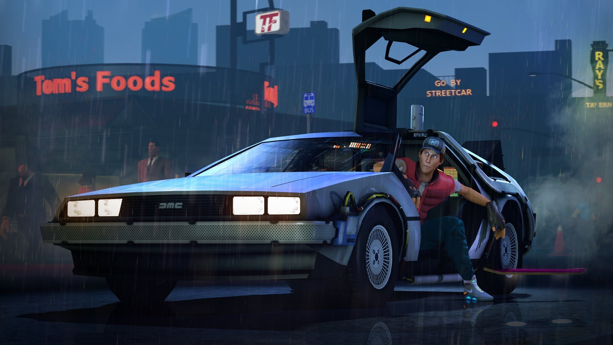 back to the future back to the future delorean team fortress scout . …