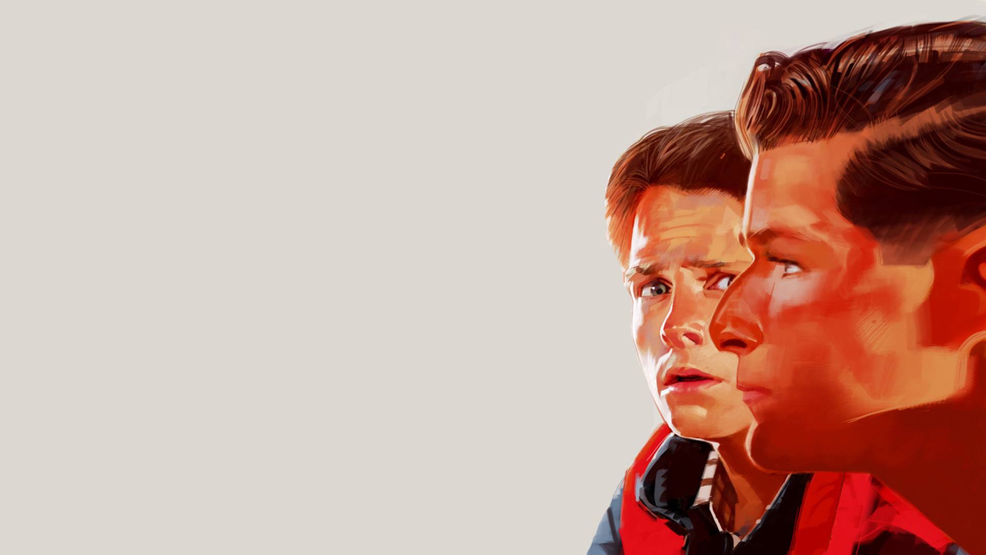 Back to the Future Drawing Michael J Fox Marty McFly HD Wallpaper