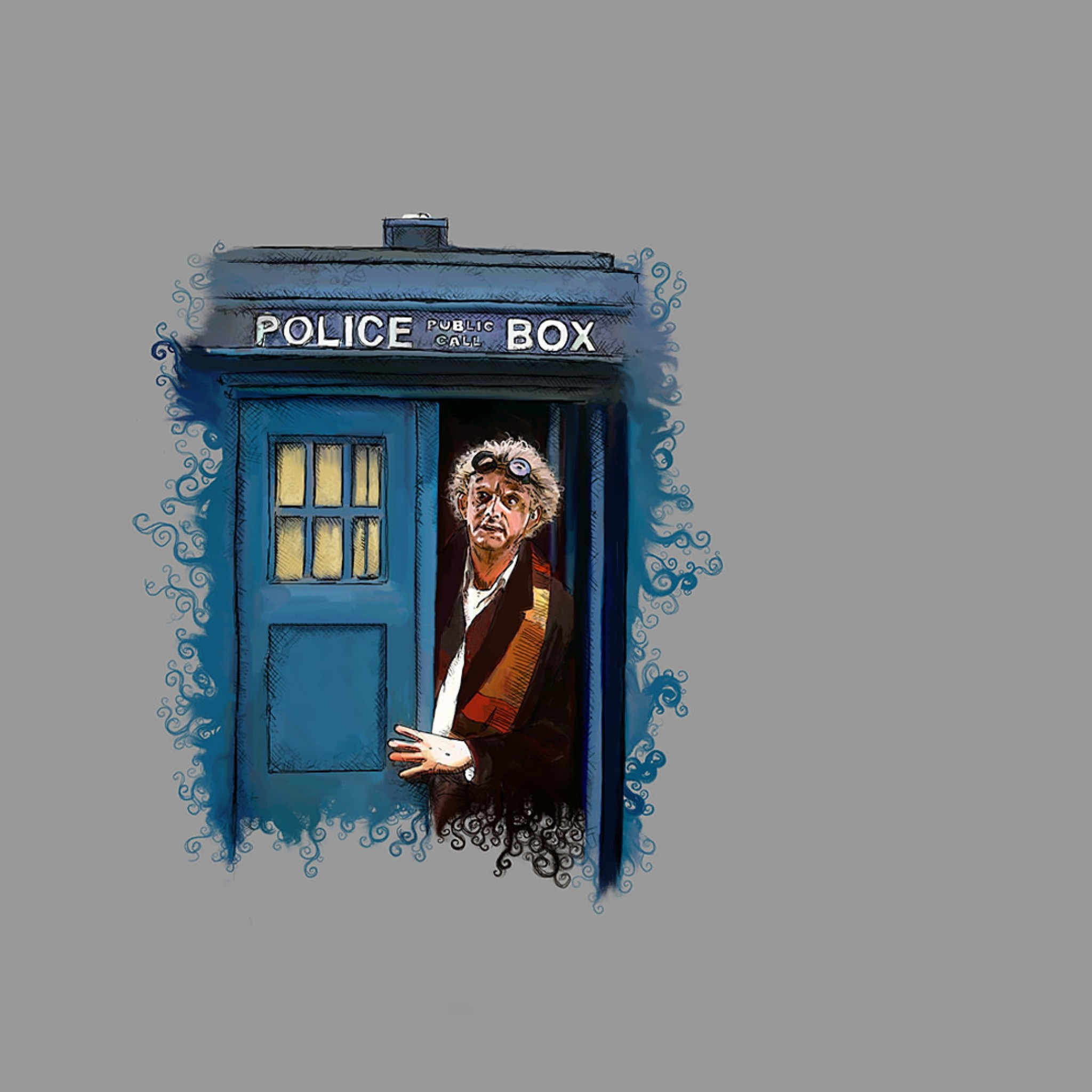 Preview wallpaper doctor who, back to the future, art 2048×2048