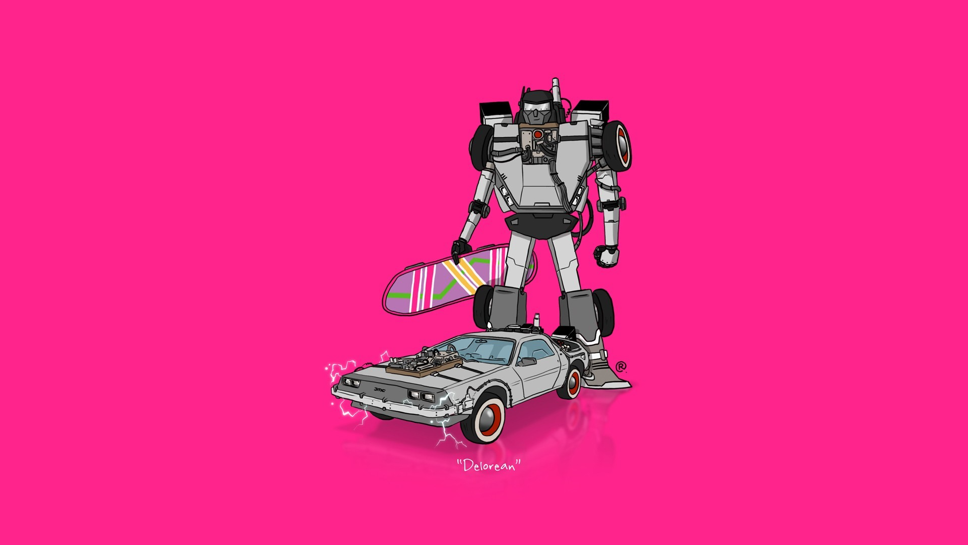 car, Transformers, Minimalism, DeLorean, Back To The Future Wallpapers HD /  Desktop and Mobile Backgrounds