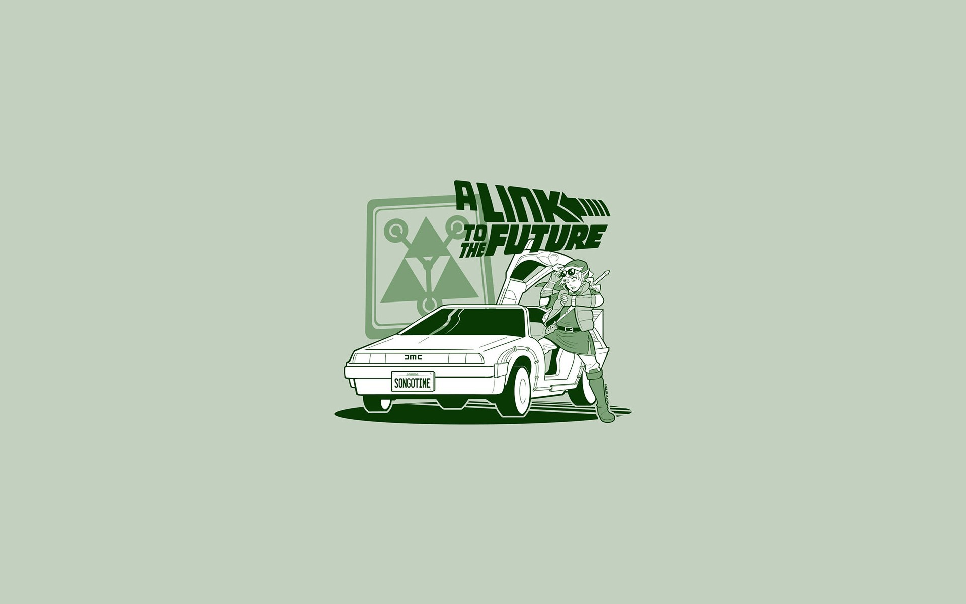 Back To The Future Cars Cartoons Comics DeLorean DMC-12 Doc Brown Funny  Link Marty McFly Spoof Legend Of Zelda