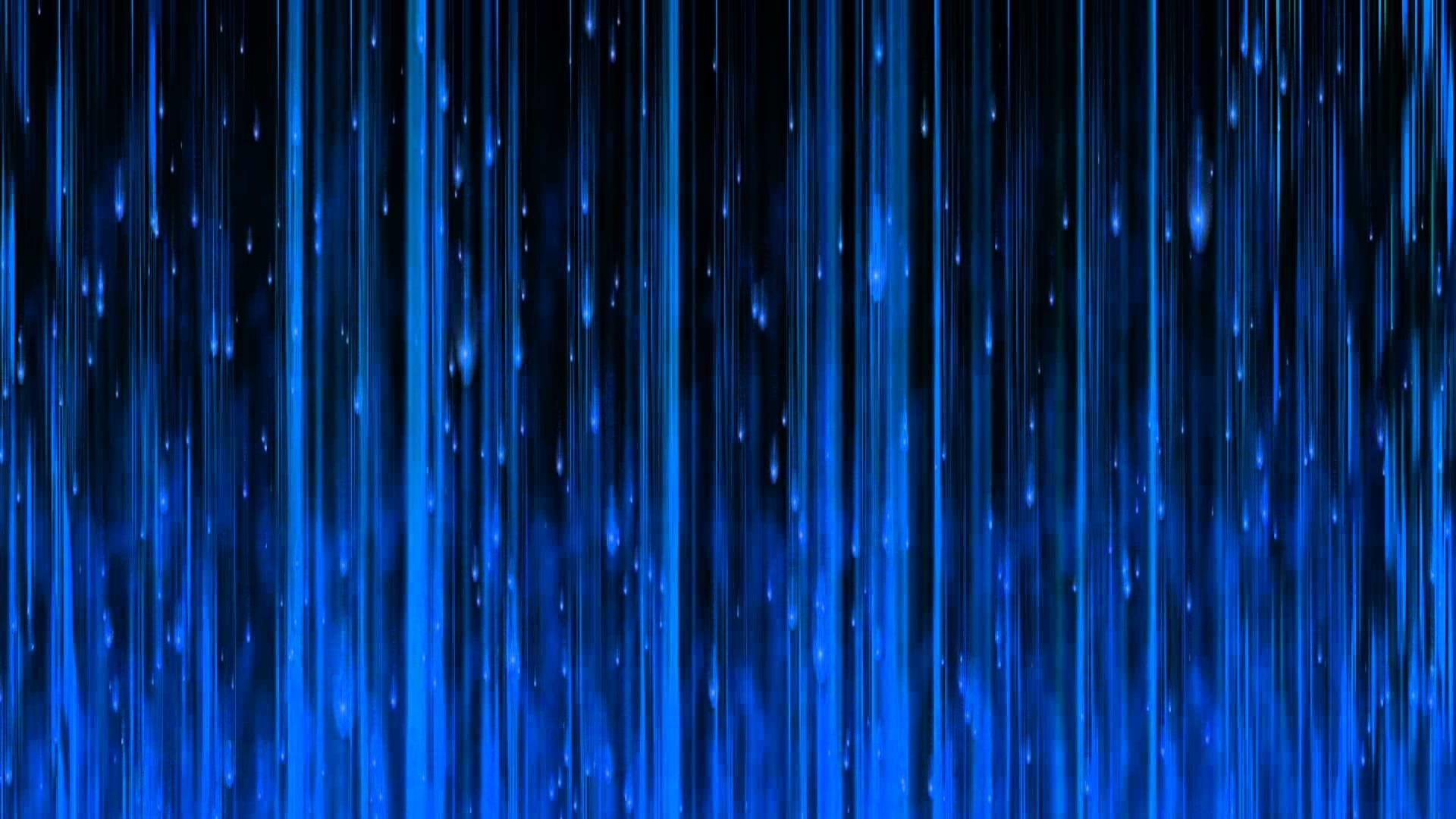 Blue Matrix Rain
