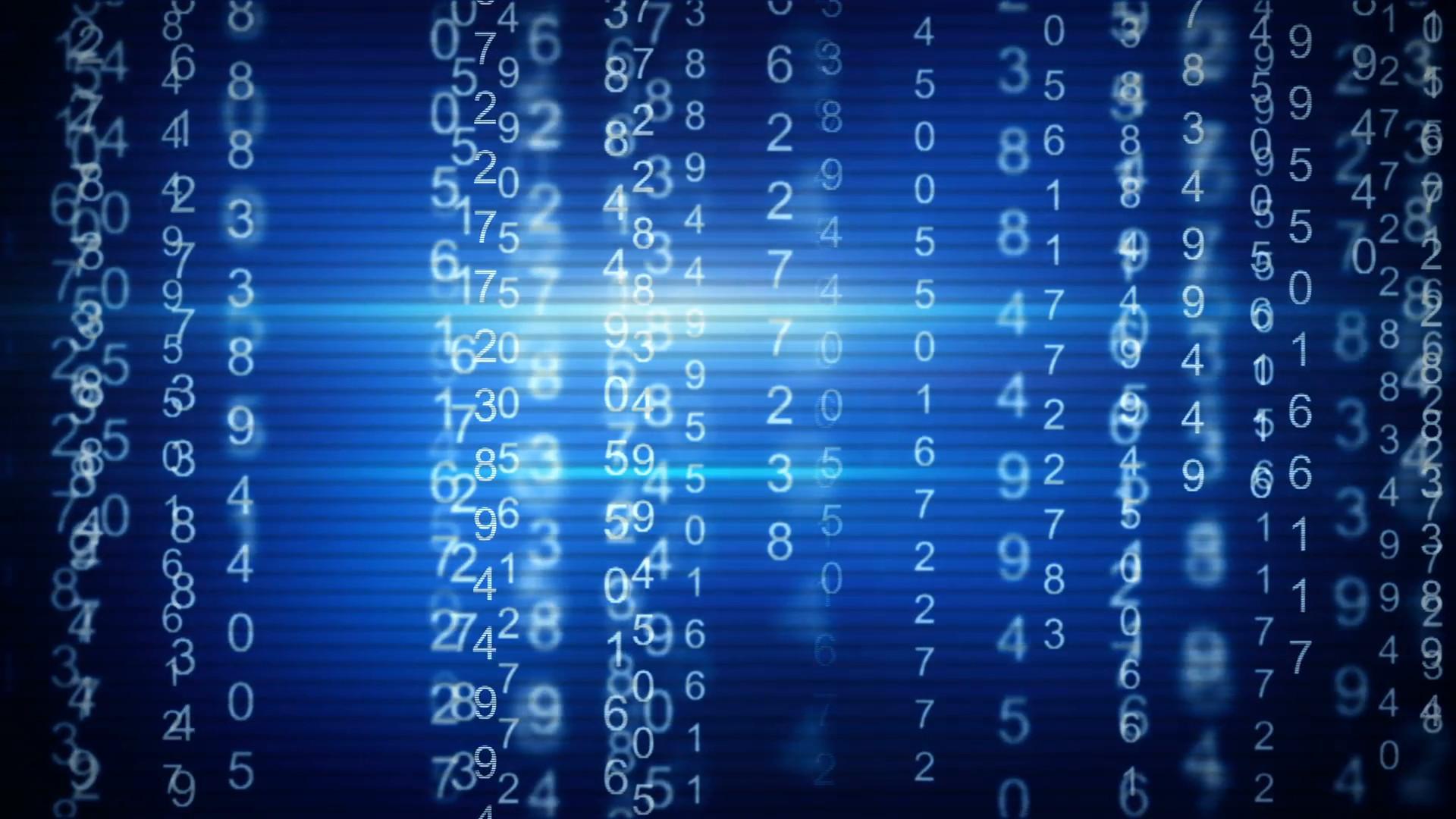 blue digital matrix style loop background Motion Background – VideoBlocks