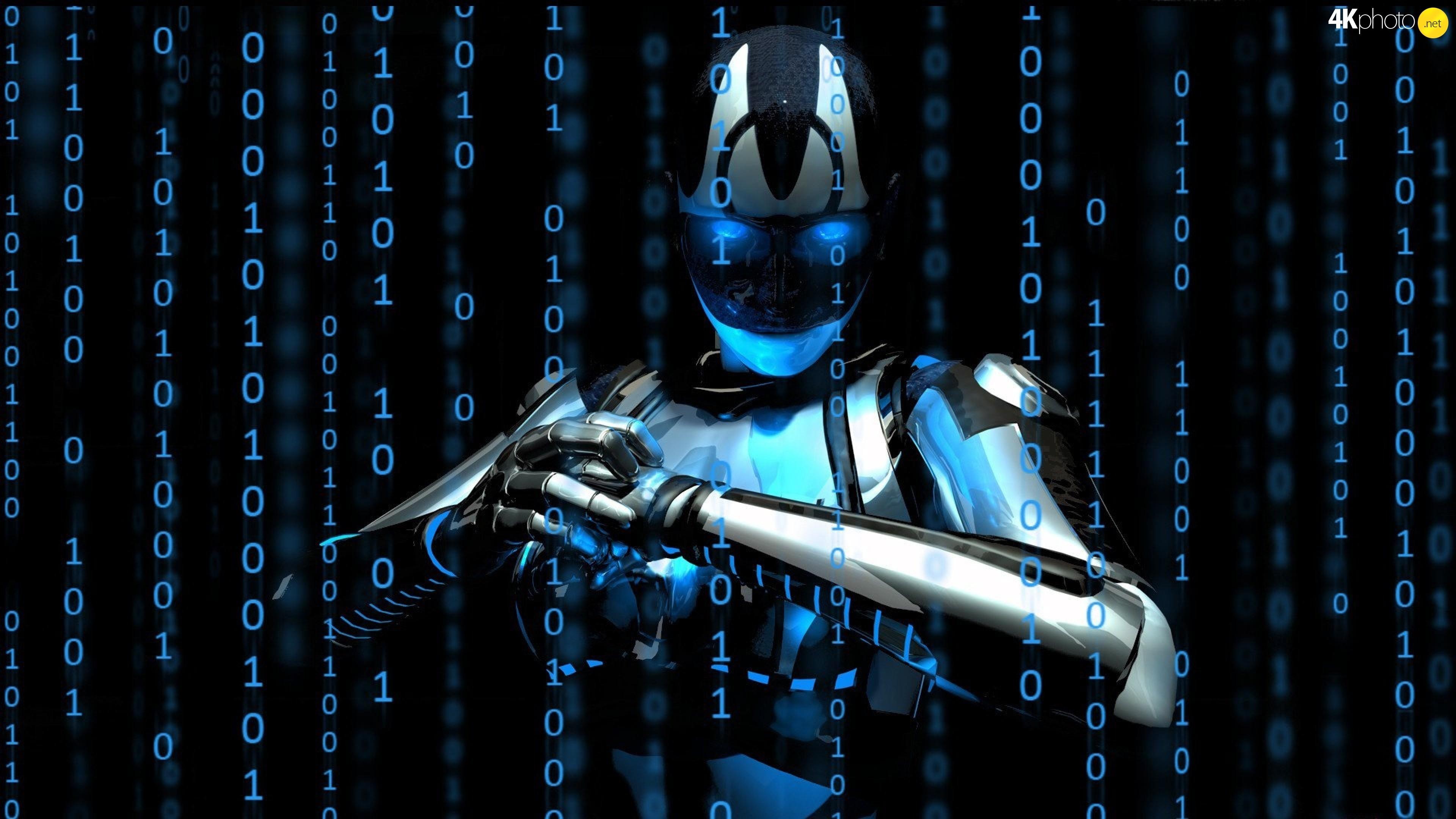 3D, Matrix, Robot, numbers