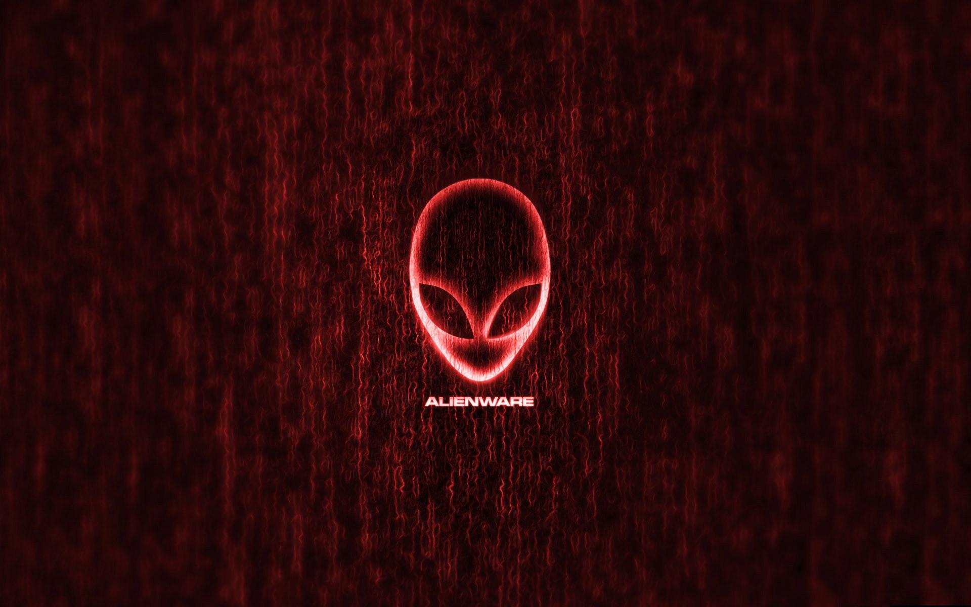 Red Alienware Matrix Wallpaper HD