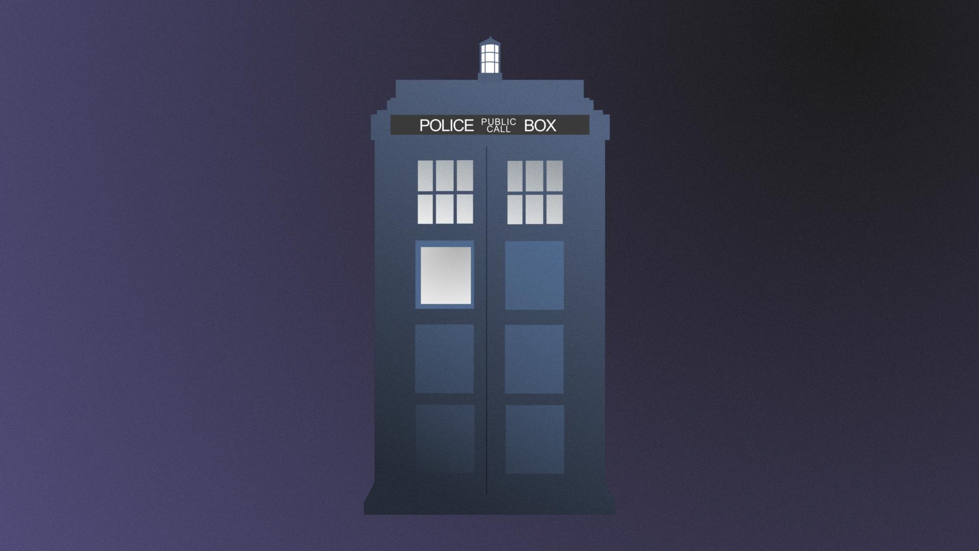 Minimalist Doctor Who Tardis [1920×1080] [OC] …