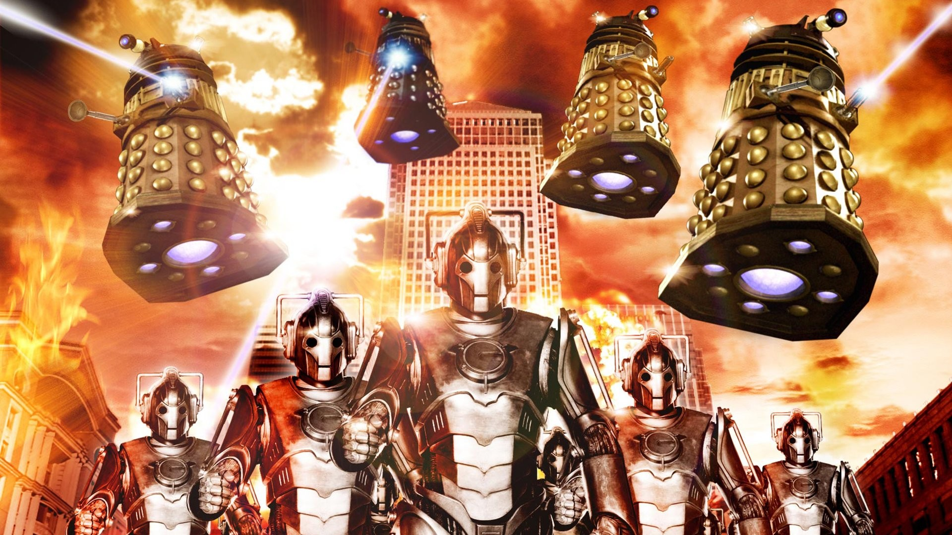 TV Show – Doctor Who Dalek Cyberman (Doctor Who) Wallpaper