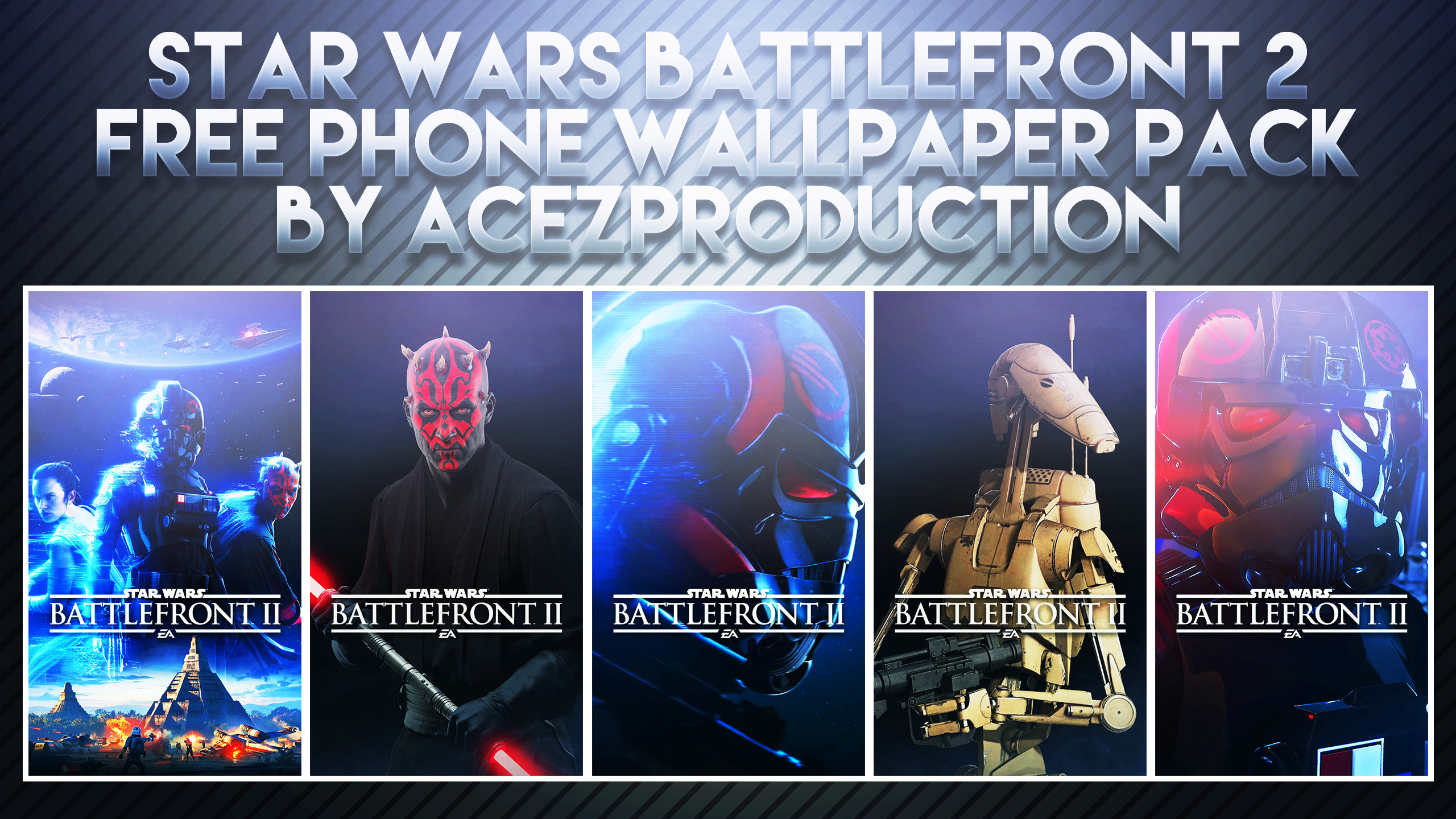 … Free Phone Wallpapers – Star Wars Battlefront 2 by AcezProduction