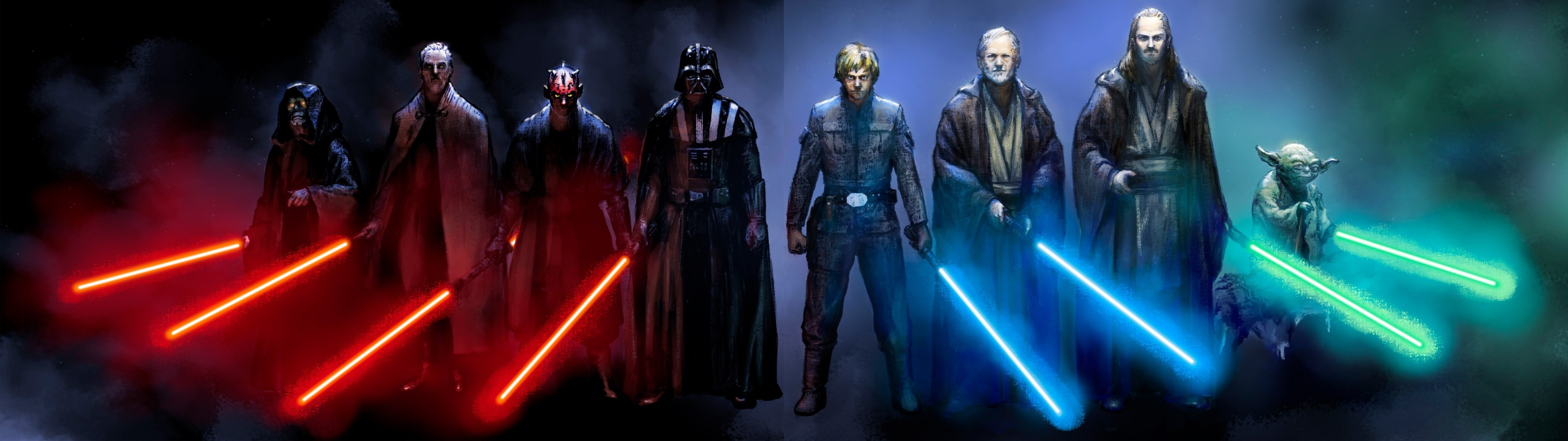 Sci Fi – Star Wars Darth Vader Darth Maul Yoda Obi-Wan Kenobi Sith (
