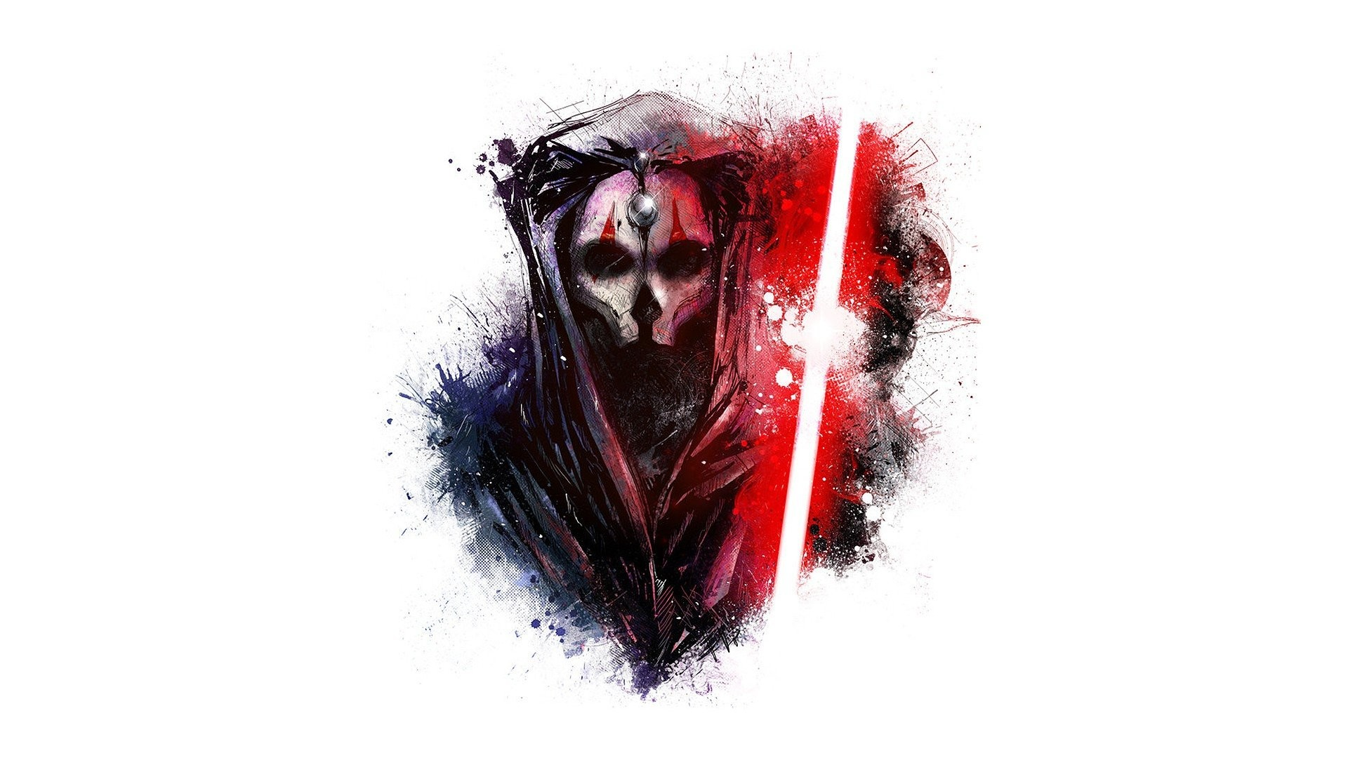 Darth Nihilus Fan Art George Lucas LucasArts Star Wars Knights Of The Old  Republic II Sith Lords Video Games White Background