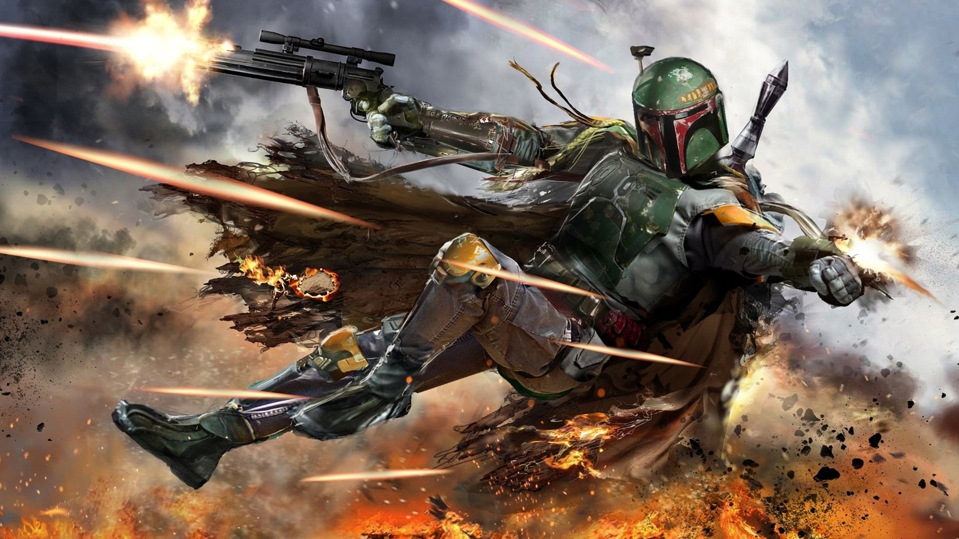 Boba Fett Darth Vader Star Wars · HD Wallpaper   Background ID:582423