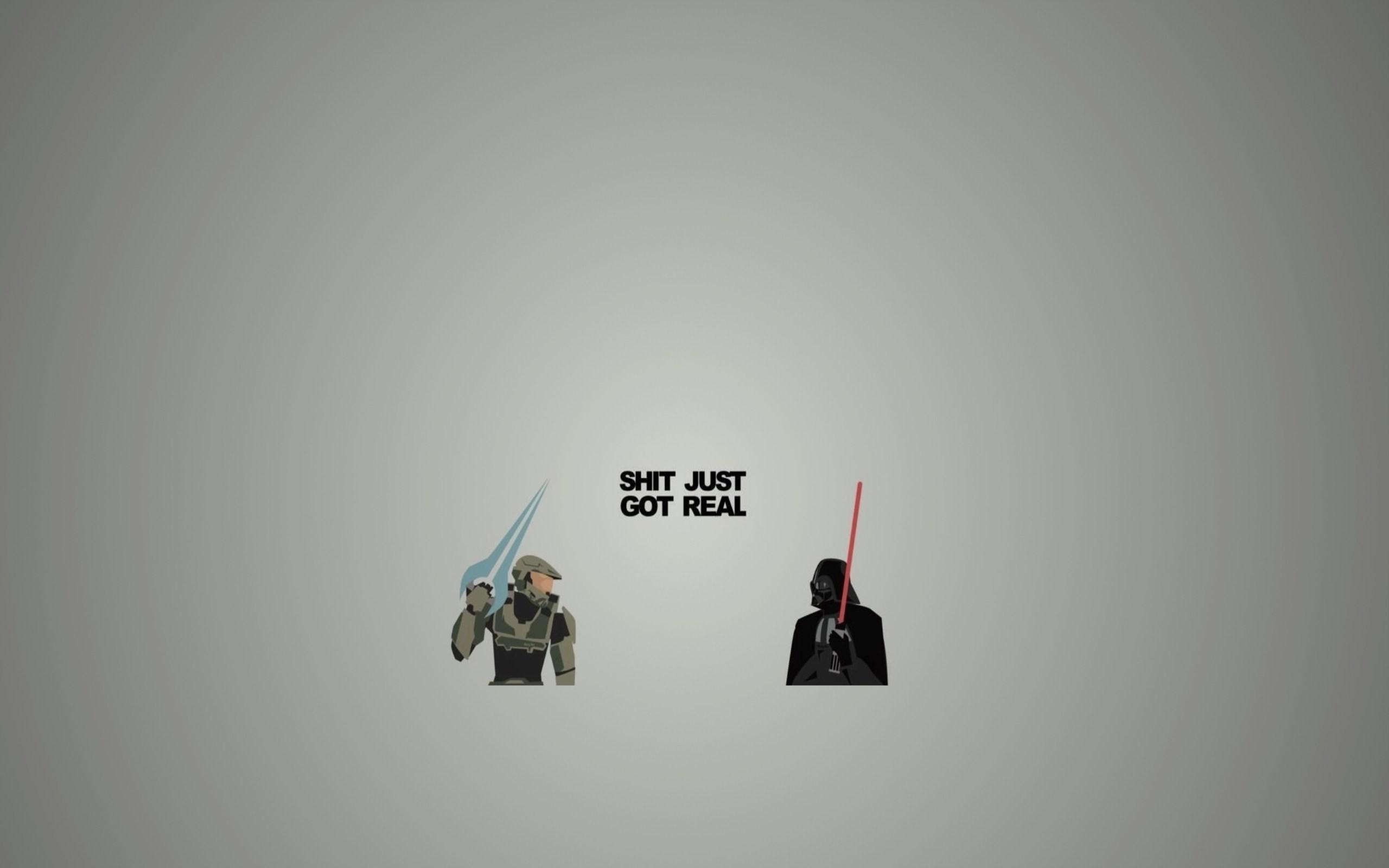 Halo, Star Wars, Master Chief, Darth Vader, Artwork, Humor Wallpapers HD /  Desktop and Mobile Backgrounds