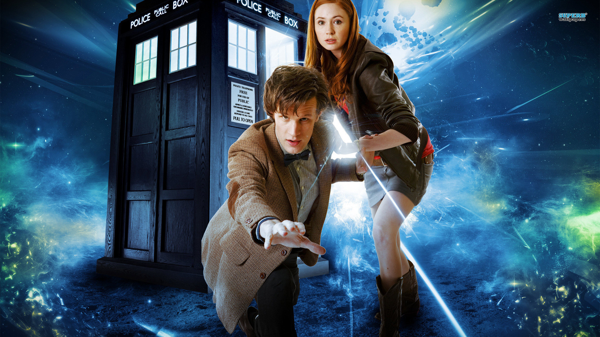 TV Show – Doctor Who The Doctor Amy Pond Tardis Wallpaper