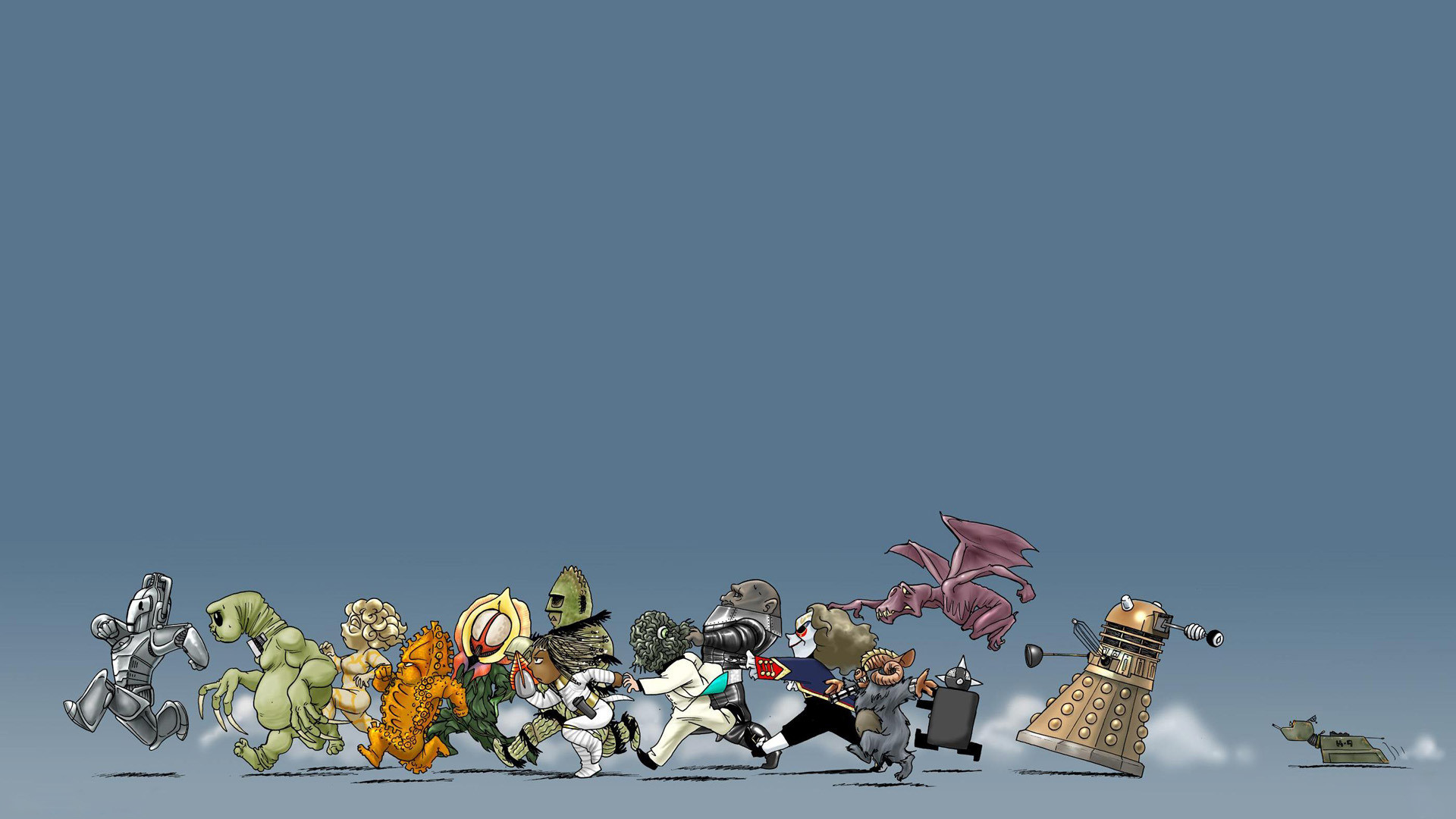 Funny Doctor Who characters HD Wallpaper 1920×1080