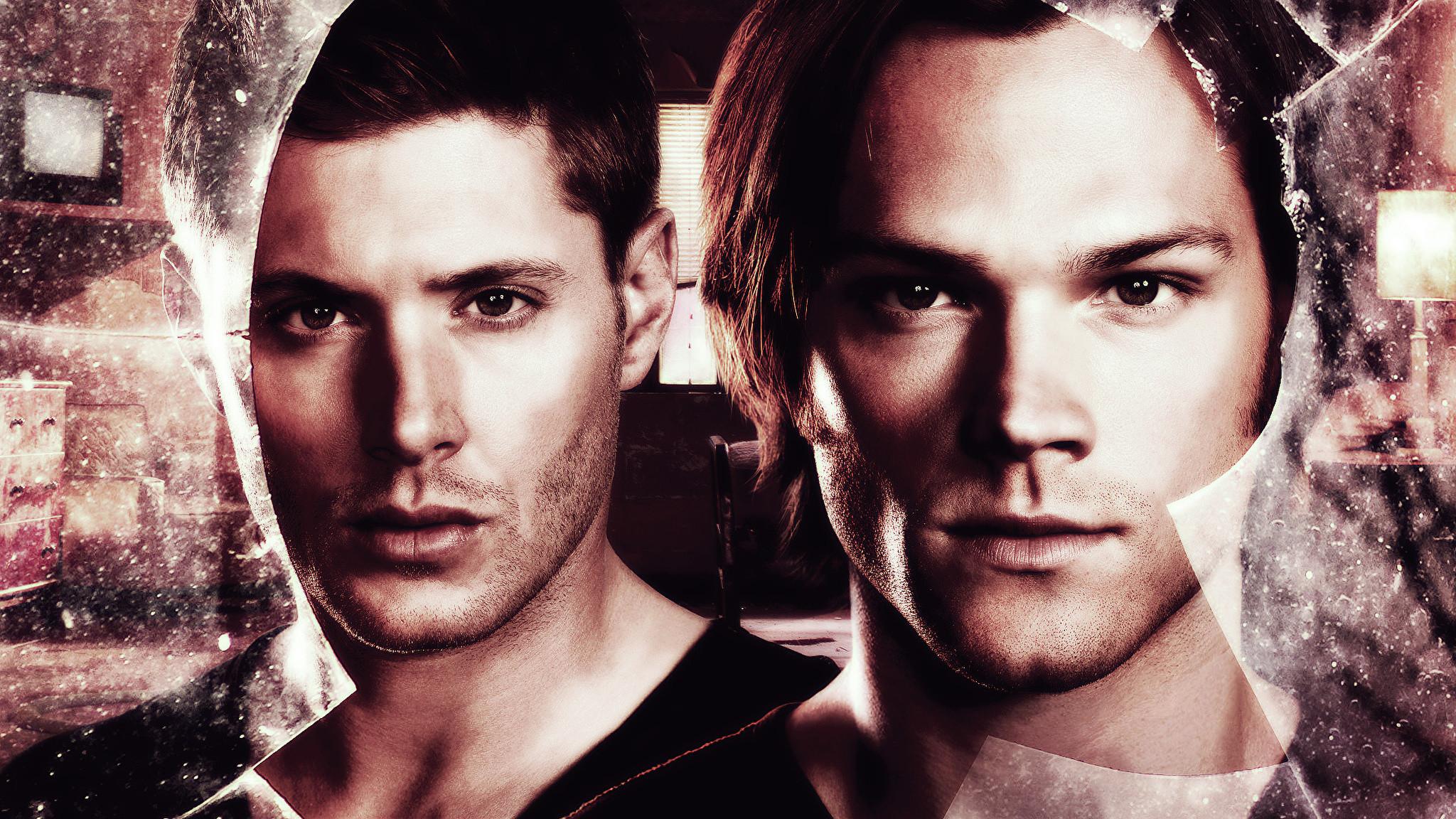 Photos Supernatural Jensen Ackles Jared Padalecki Men Two Face Movies  Glance Celebrities Man 2 Staring